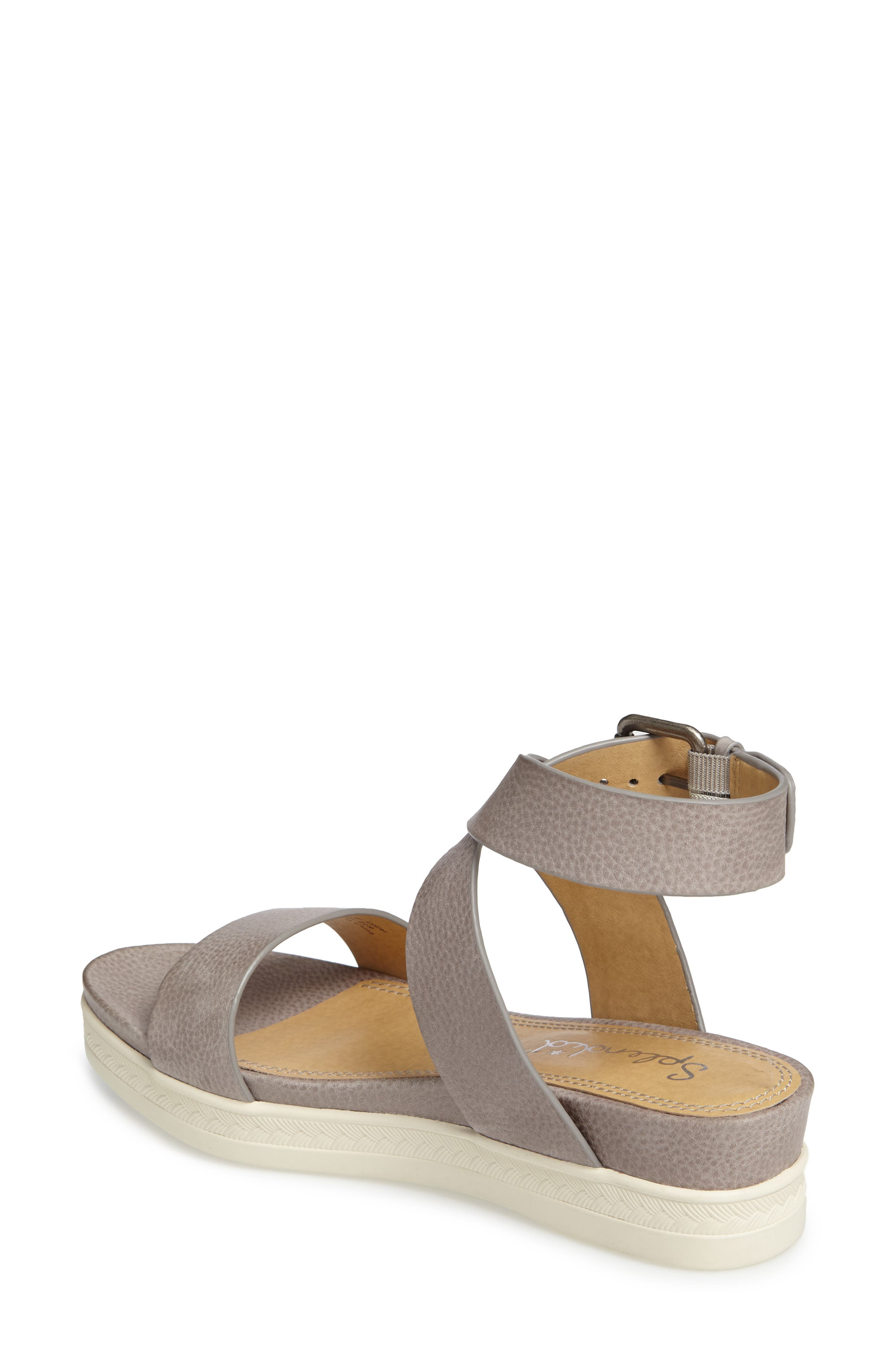 Julie Platform Sandal,                             Alternate thumbnail 2, color,                             Light Grey Leather