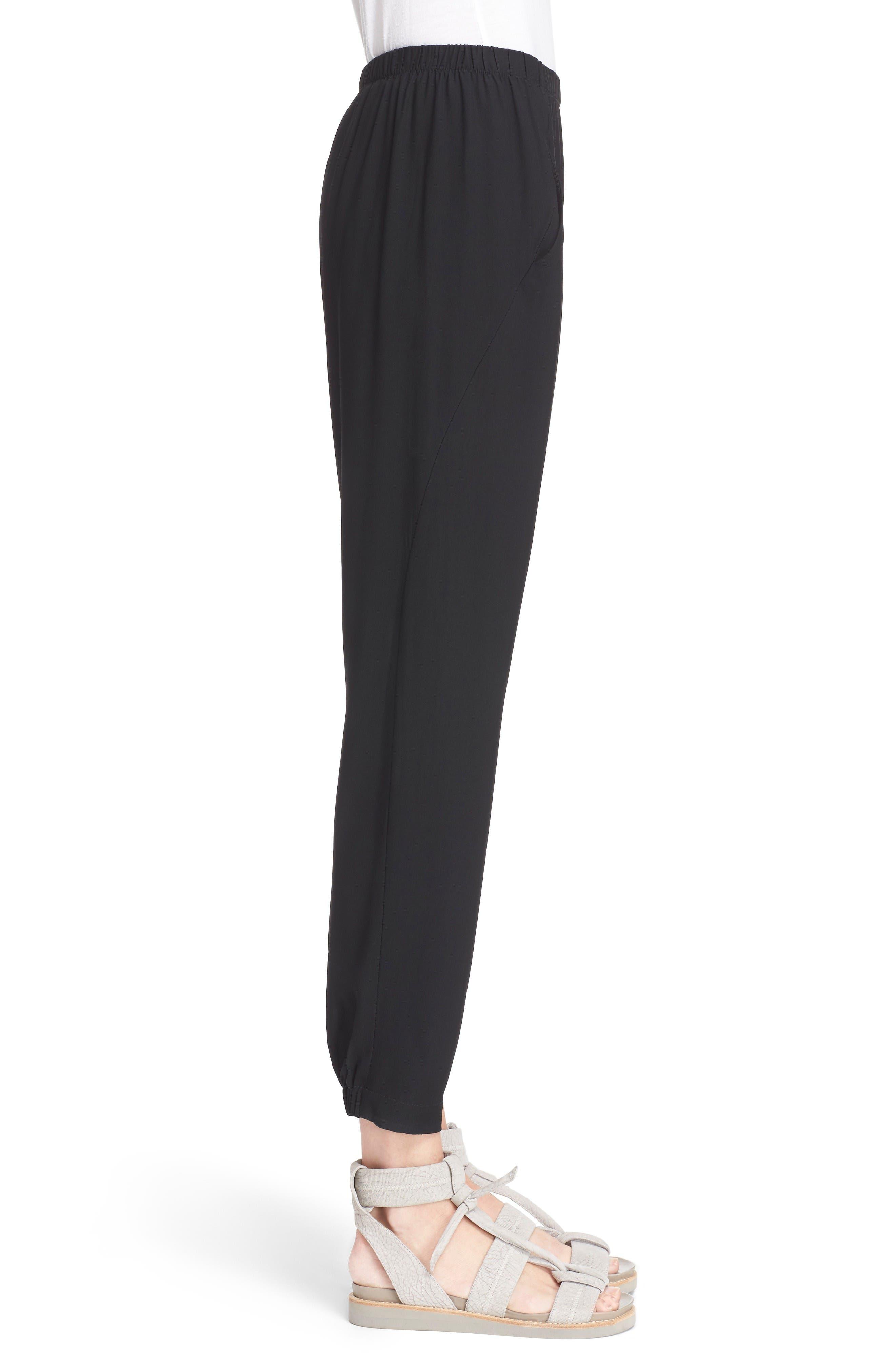 Gabi Drape Trousers,                             Alternate thumbnail 5, color,                             Black