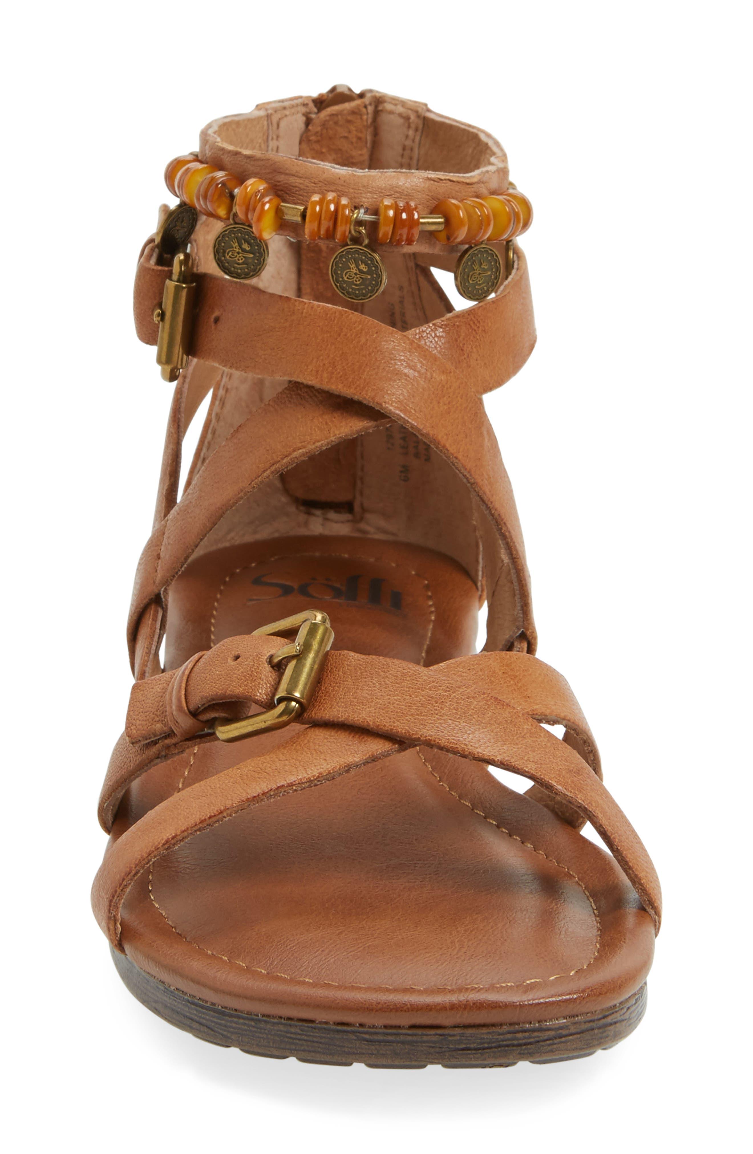Boca Caged Sandal,                             Alternate thumbnail 3, color,                             Luggage Leather