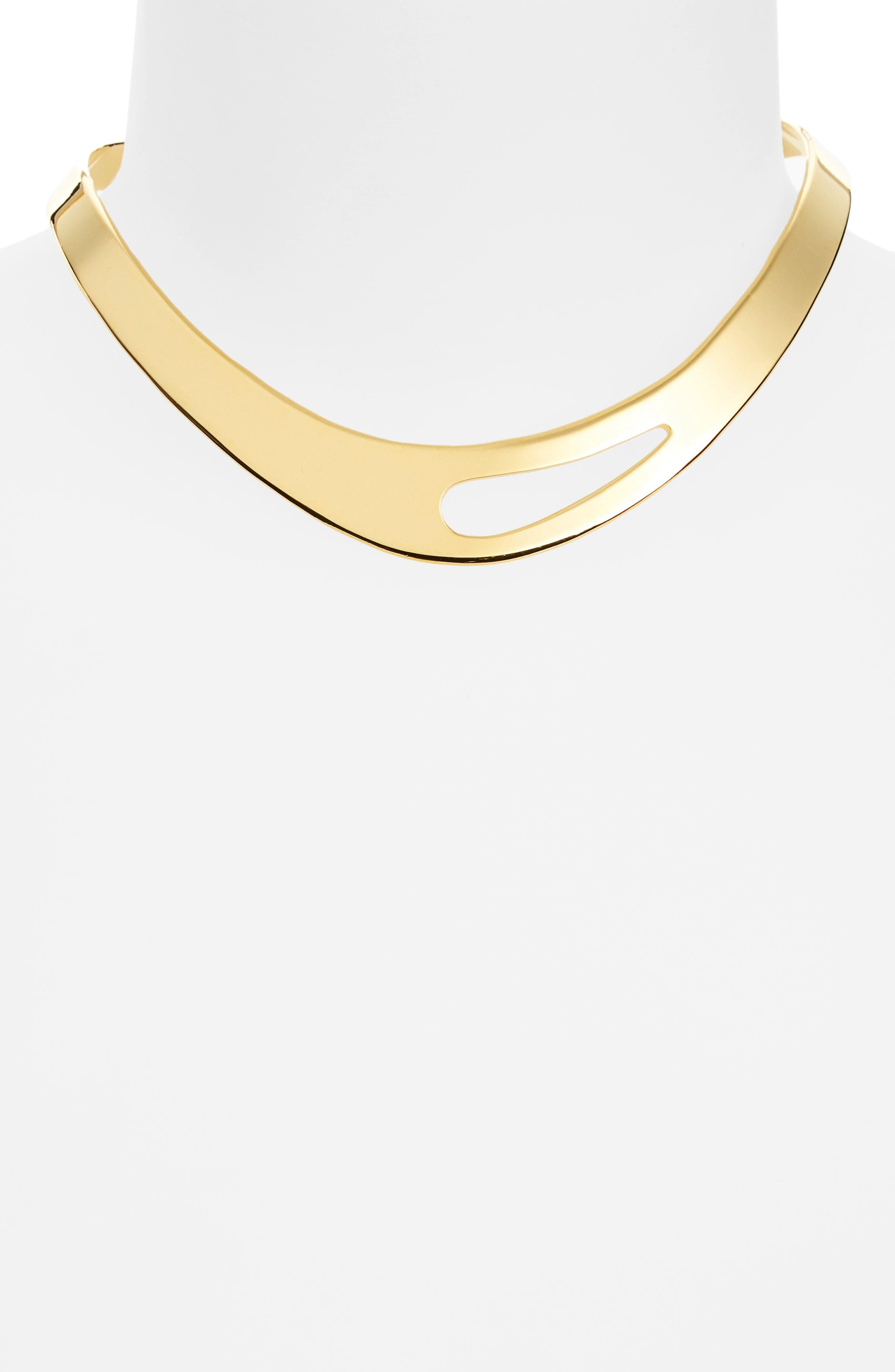 Alternate Image 2  - Argento Vivo Cutout Collar Necklace