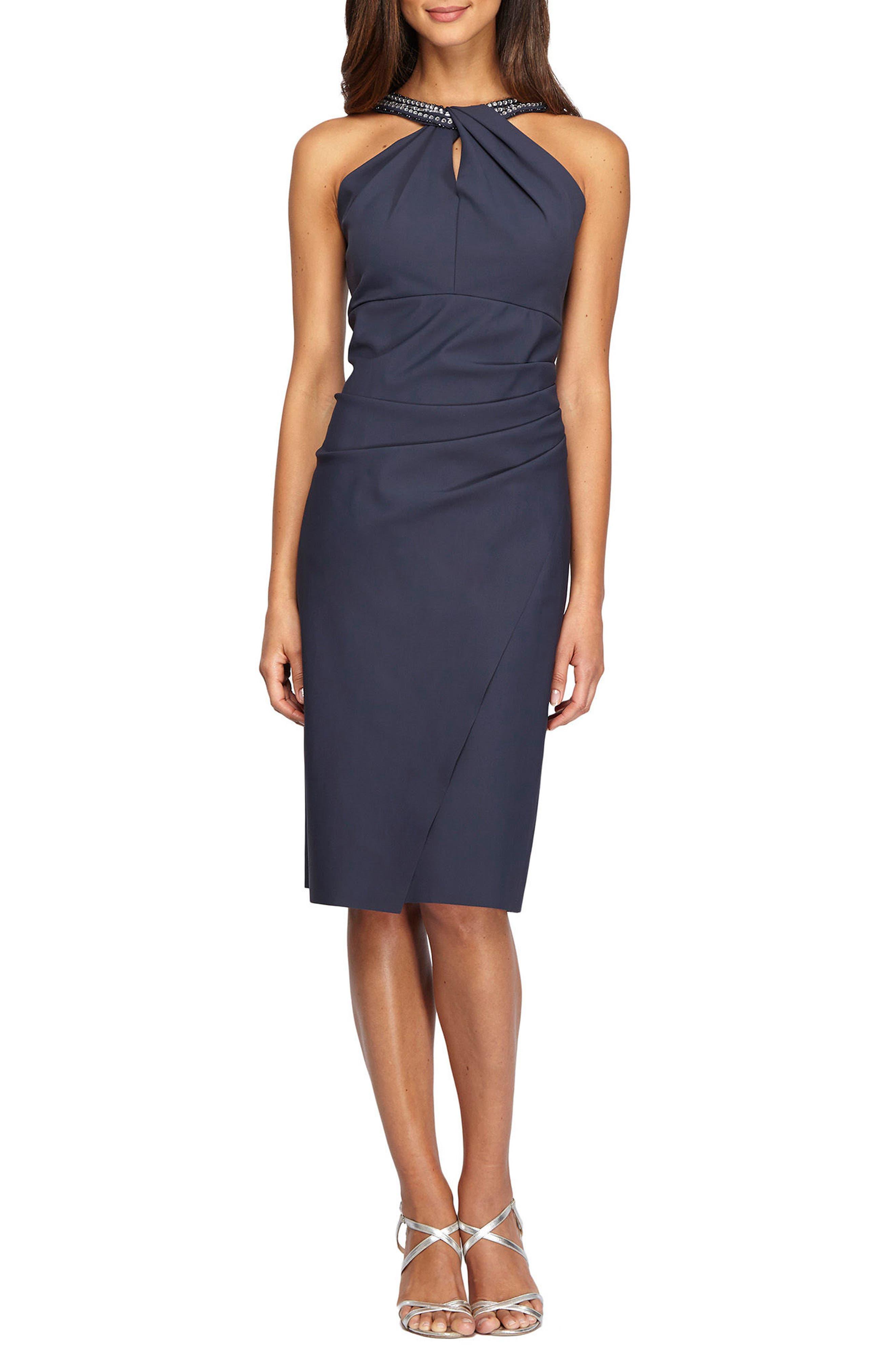 Embellished Dress,                         Main,                         color, Charcoal