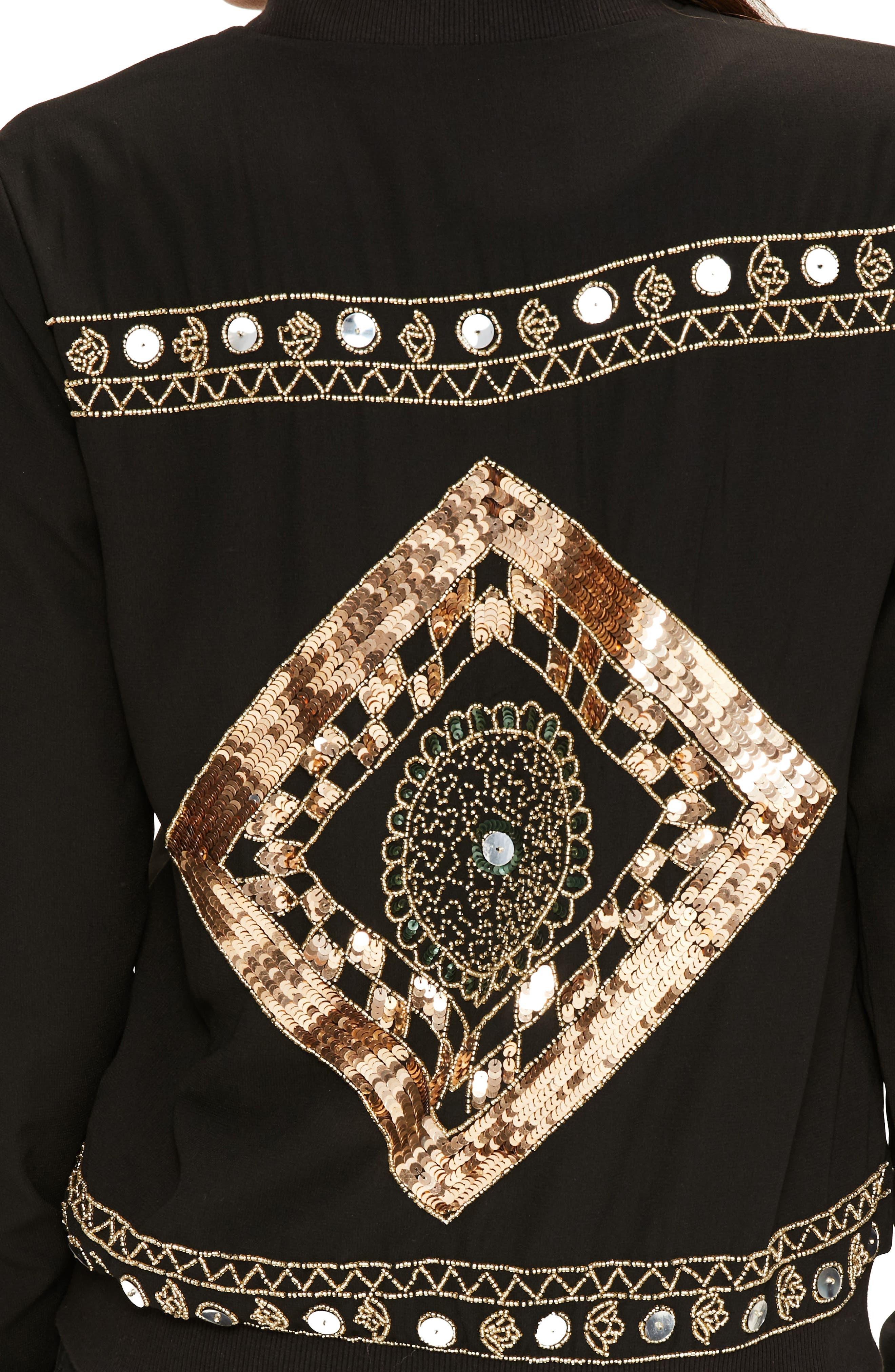 Alternate Image 4  - Missguided Embellished Bomber Jacket