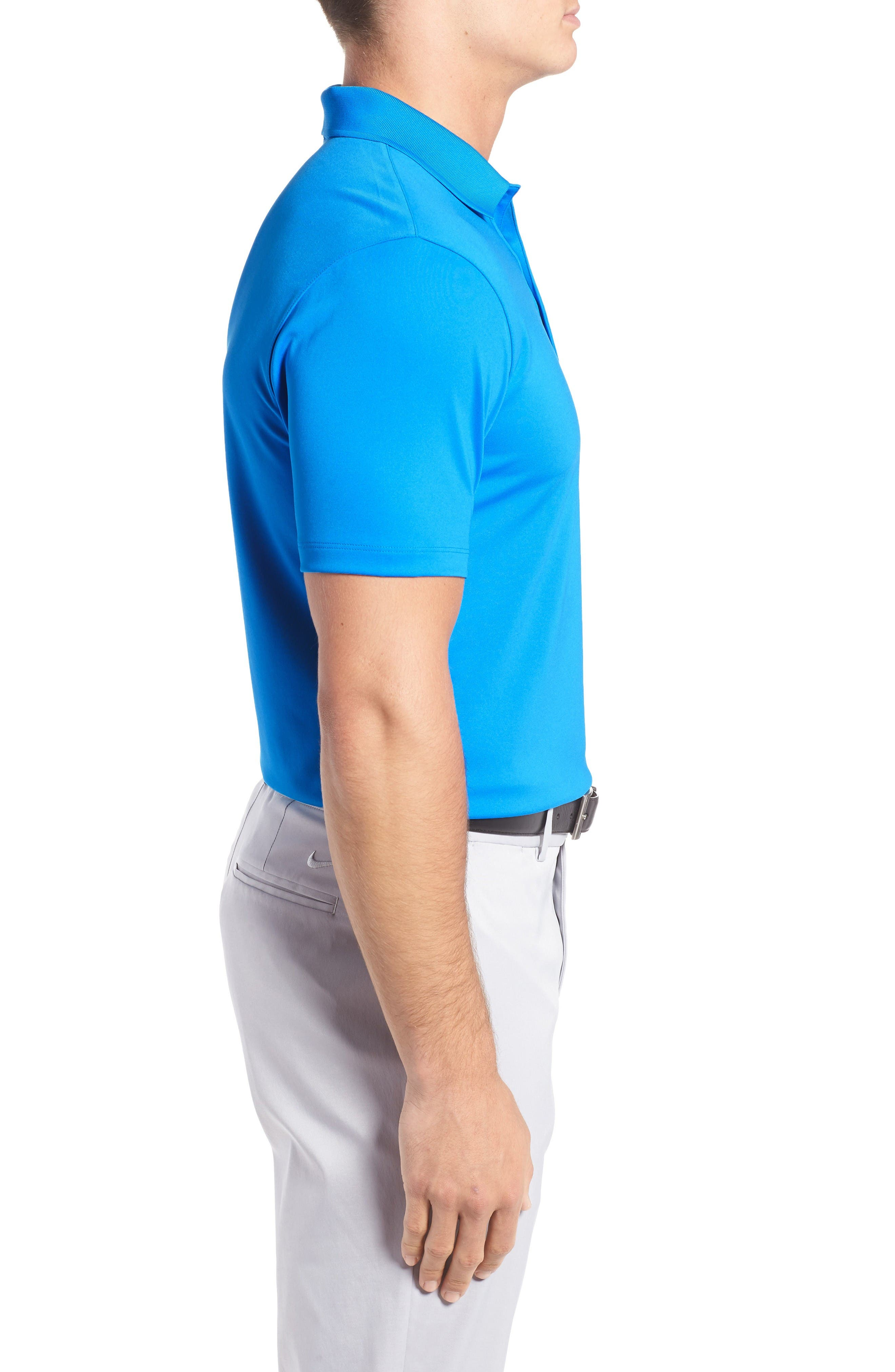 'Victory Dri-FIT Golf Polo,                             Alternate thumbnail 3, color,                             Photo Blue/ White