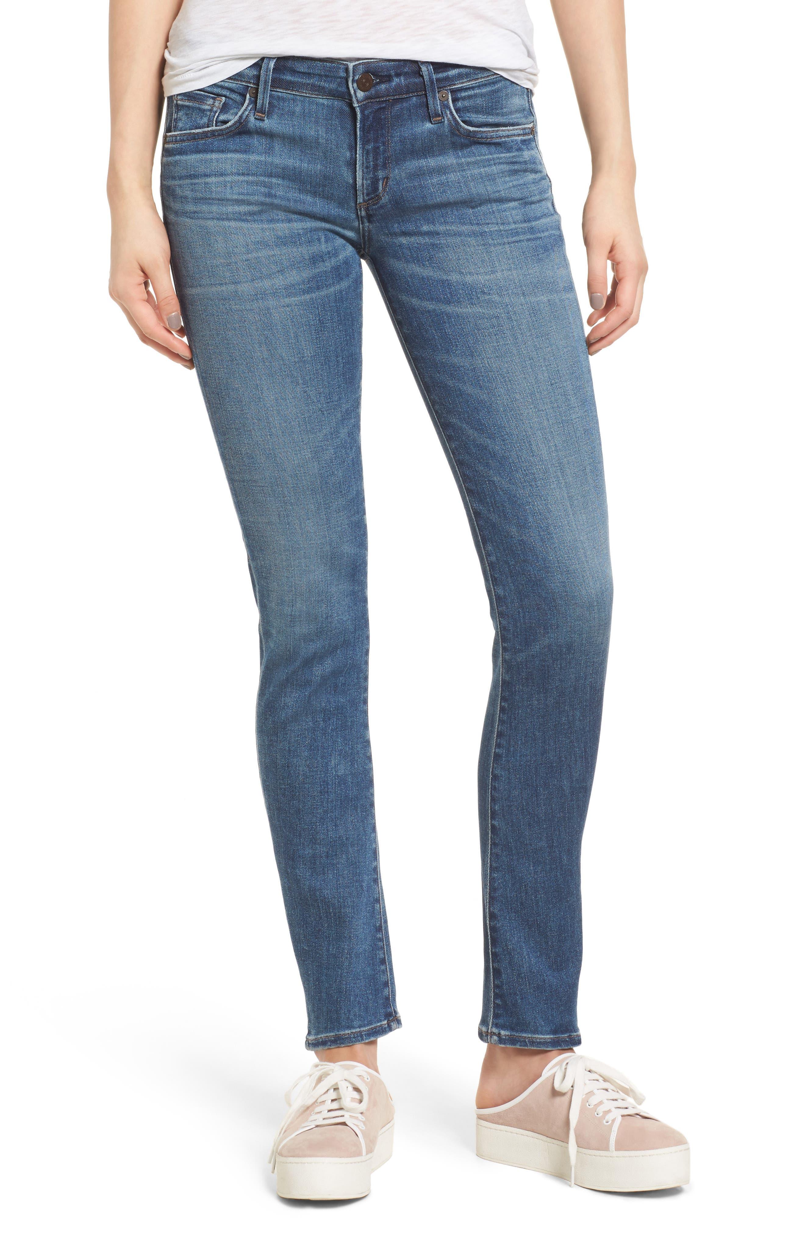 Racer Skinny Jeans,                         Main,                         color, Voodoo