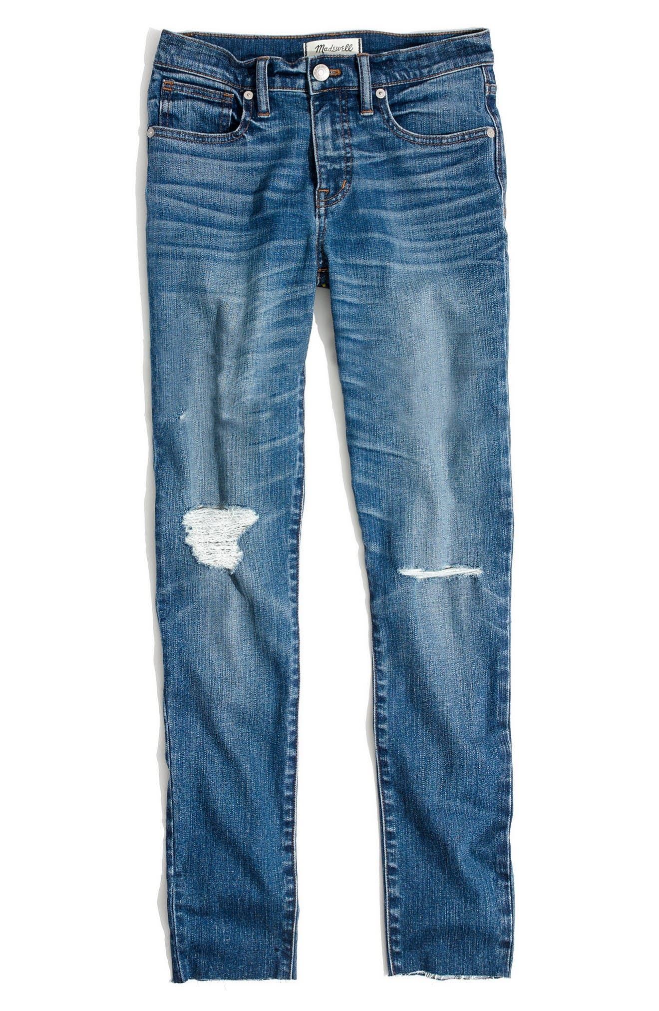 Alternate Image 4  - Madewell 9-Inch High-Rise Skinny Crop Jeans (Bruce Wash)