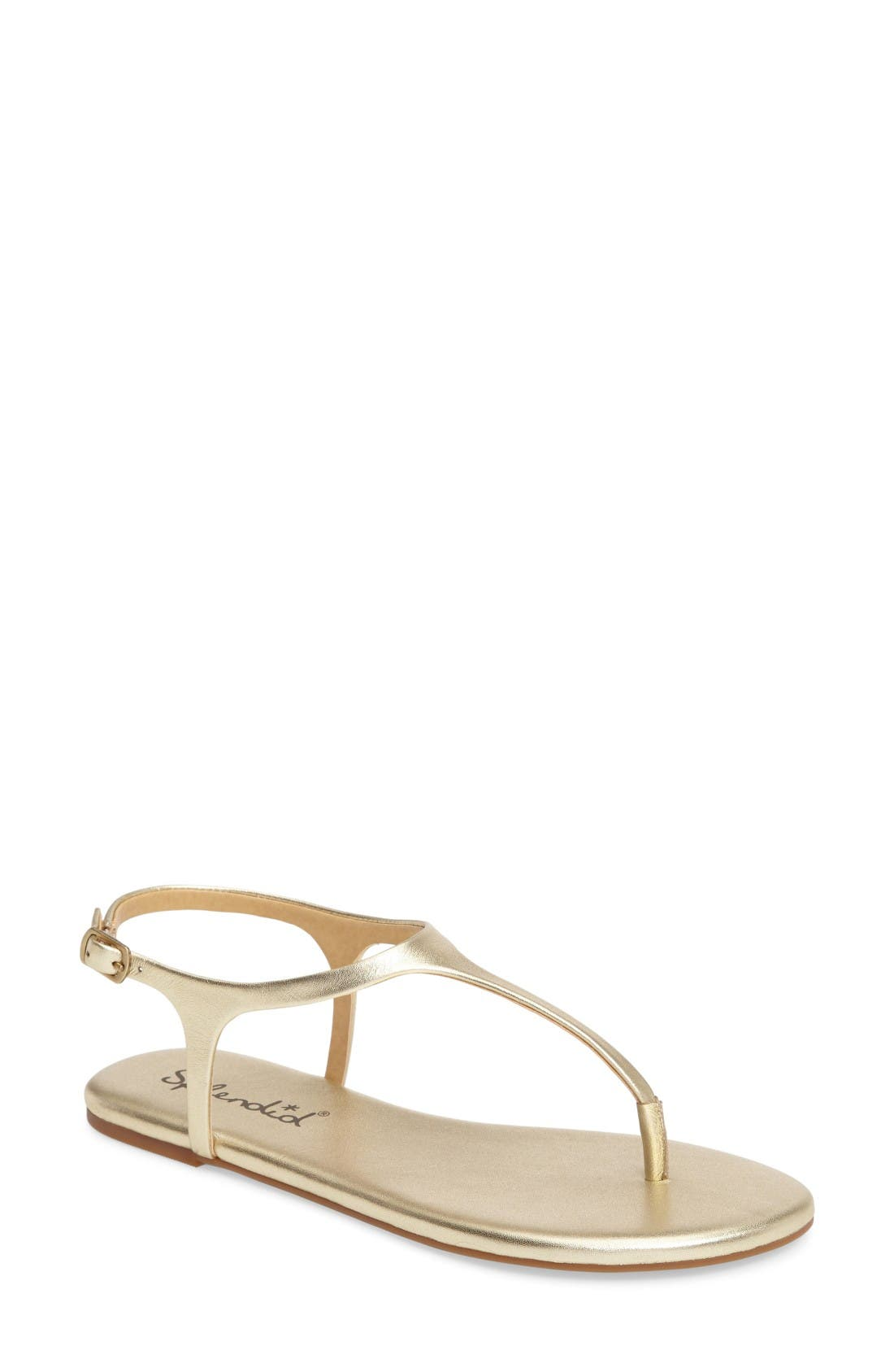 'Mason' Sandal,                         Main,                         color, Gold Metal