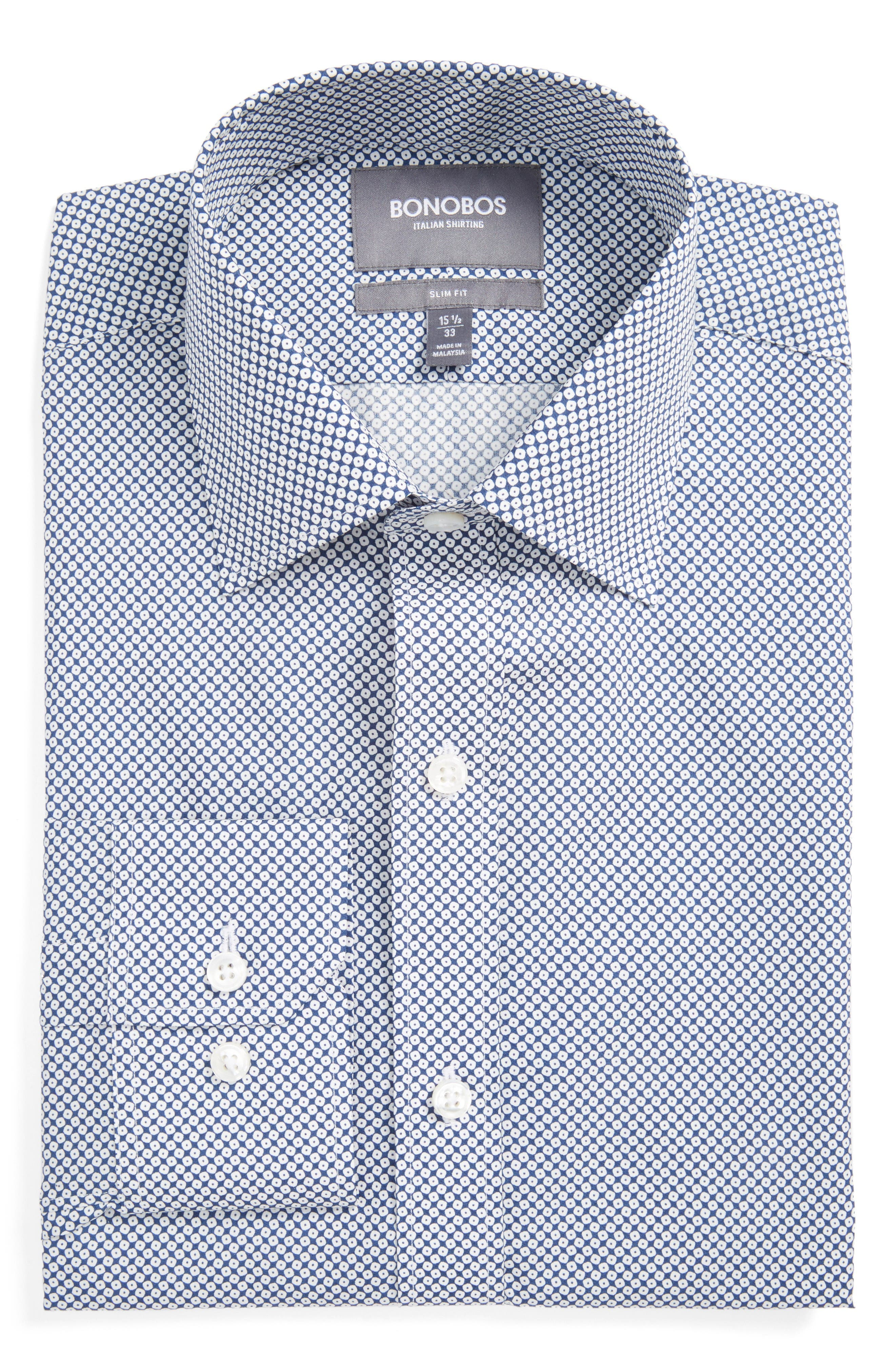 Alternate Image 1 Selected - Bonobos Americano Slim Fit Geometric Dress Shirt