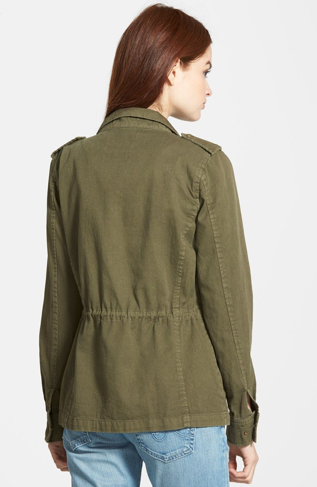 Alternate Image 2  - Velvet Heritage Military Canvas Jacket