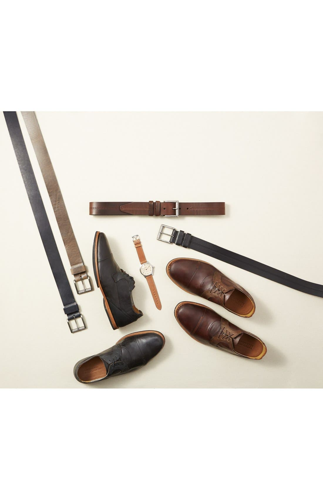 Norris Horween<sup>®</sup> Leather Belt,                             Alternate thumbnail 3, color,