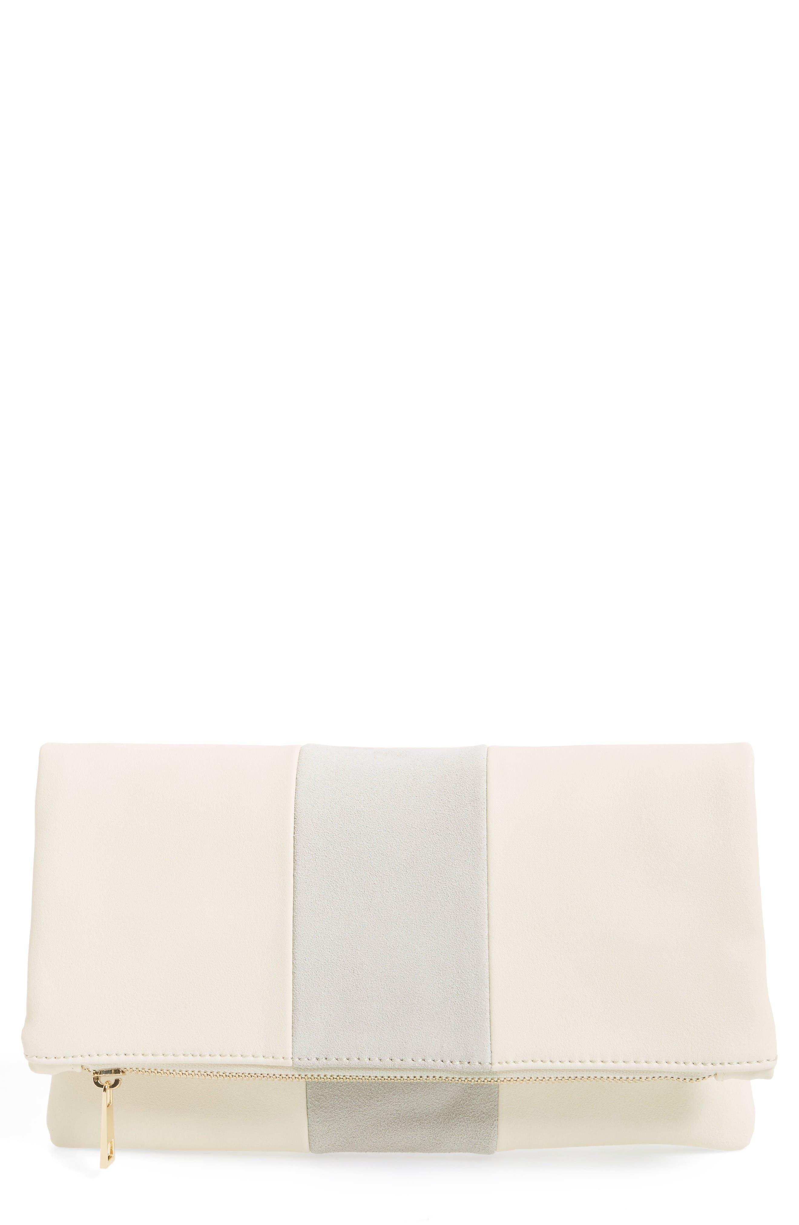 Main Image - BP. Tonal Stripe Foldover Clutch