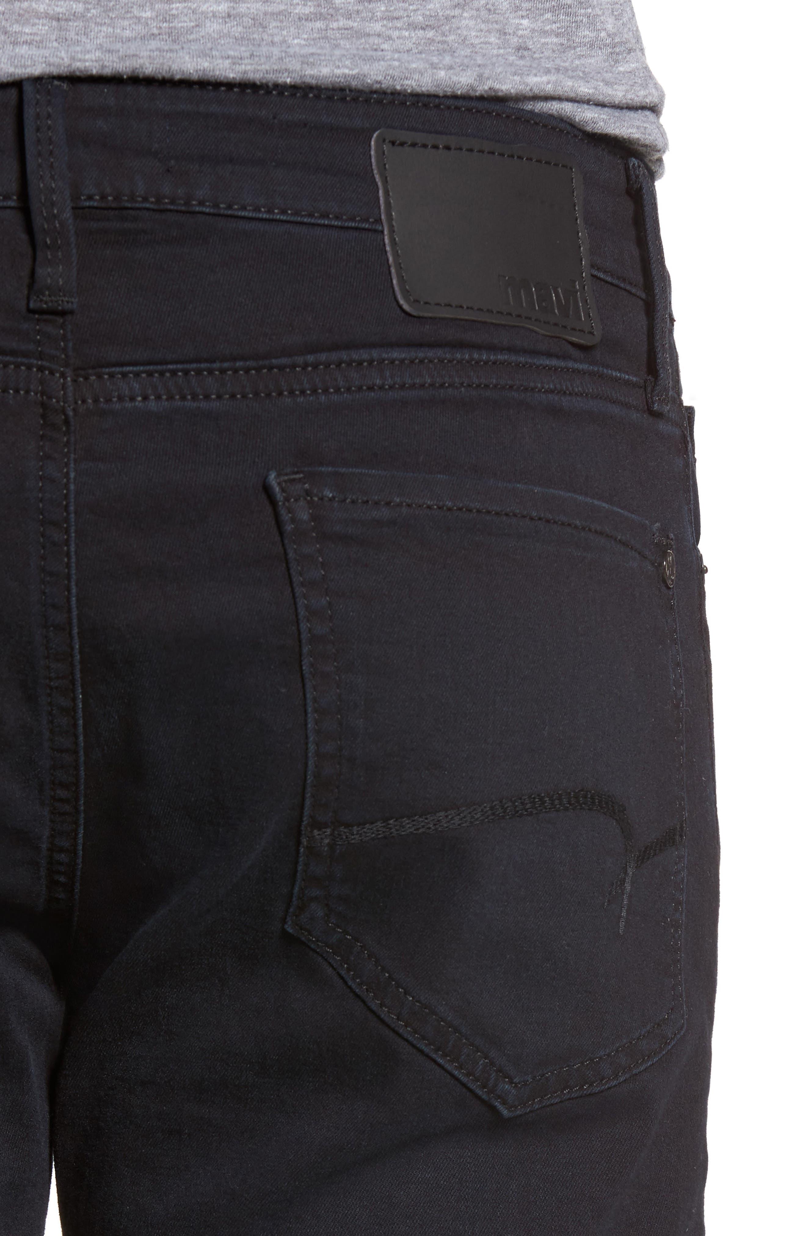 Alternate Image 4  - Mavi Jeans Zach Straight Leg Jeans (E Black Williamsburg)