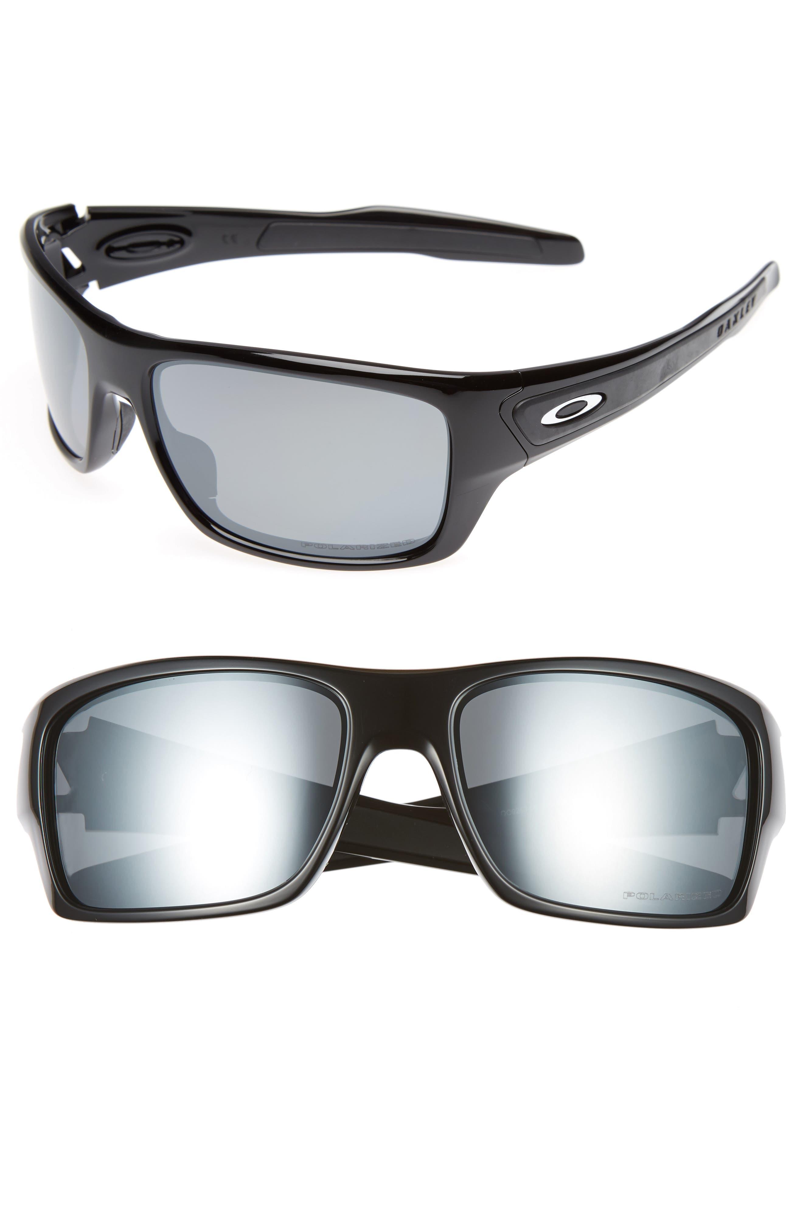 Oakley Turbine 65Mm Polarized Sunglasses - Black