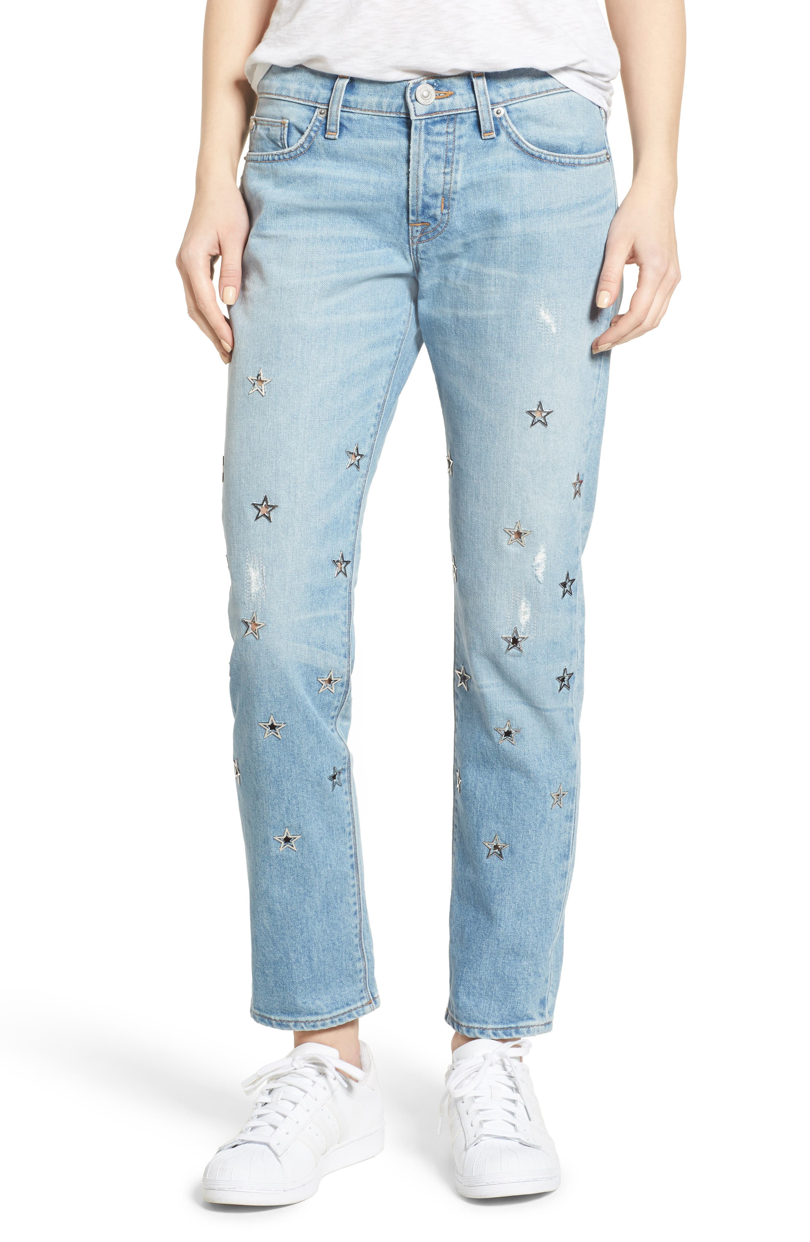Riley Crop Relaxed Straight Leg Jeans,                         Main,                         color, Big Shot