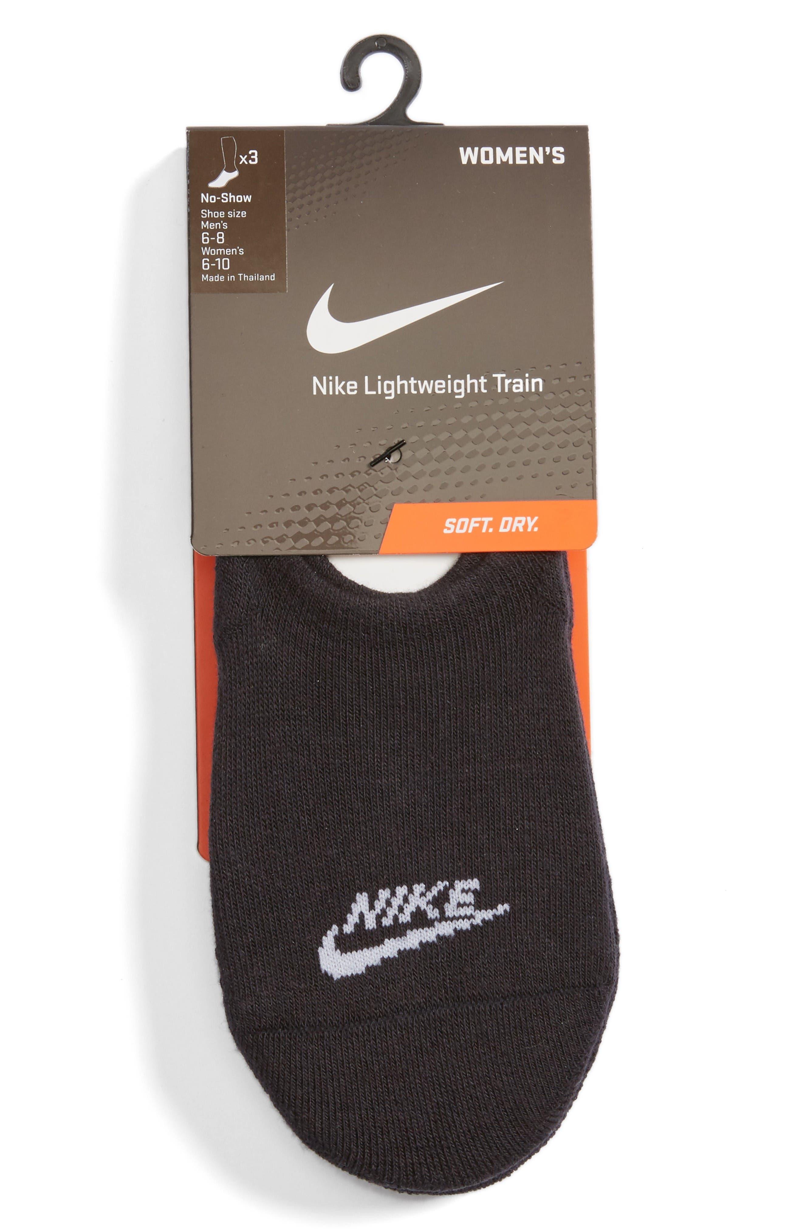 3-Pack No-Show Training Socks,                             Alternate thumbnail 2, color,                             Black