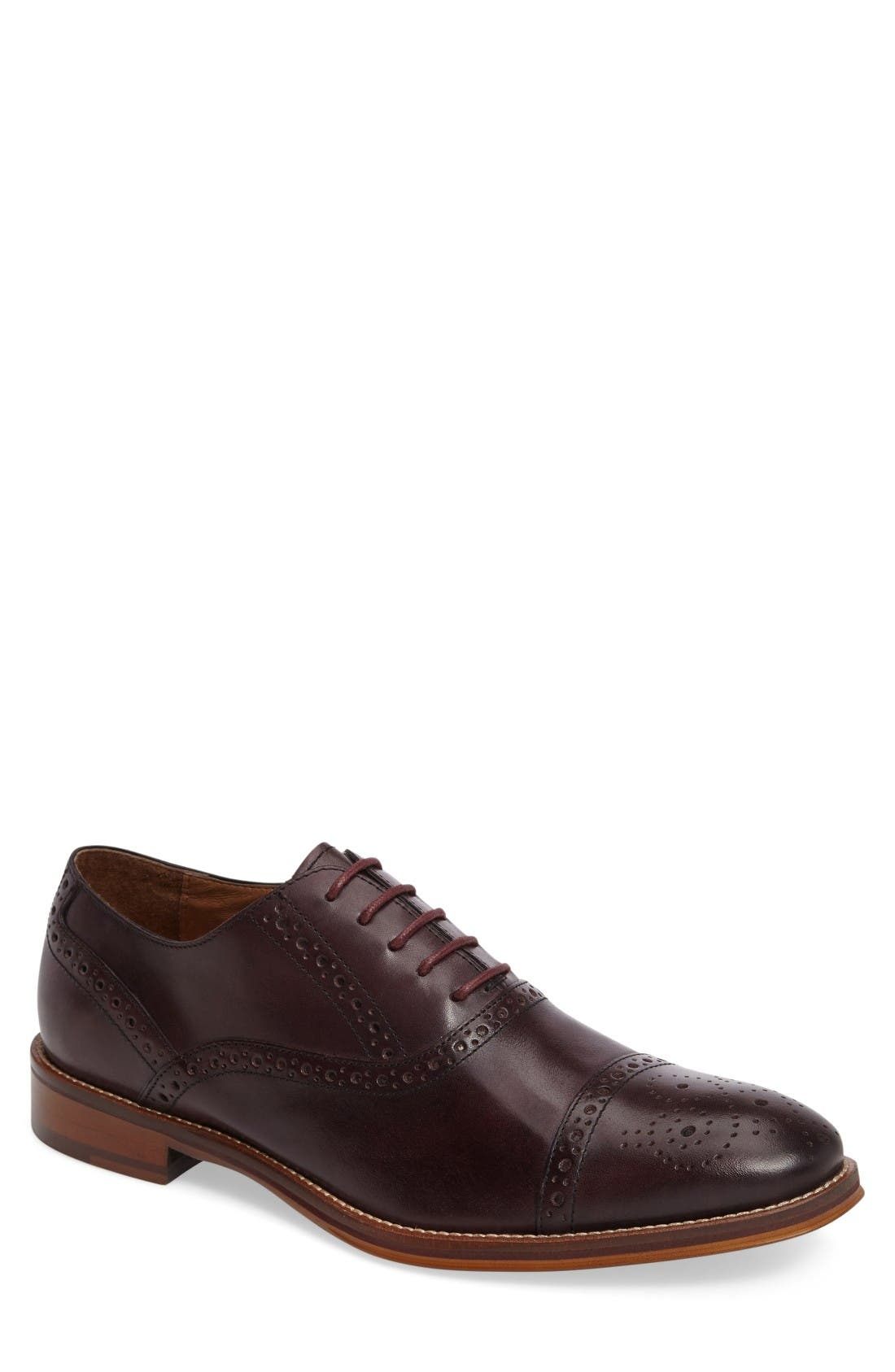 Main Image - Johnston & Murphy Conard Cap Toe Oxford (Men)
