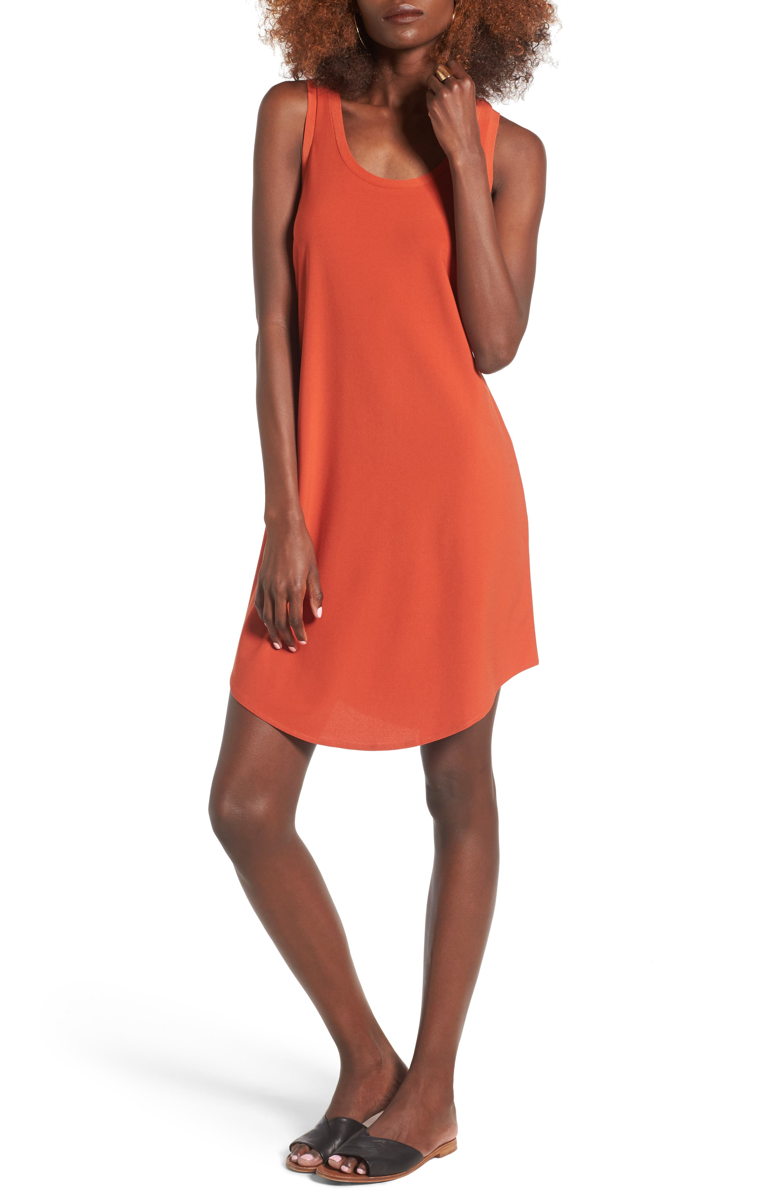 Tank Dress,                         Main,                         color, Red Persimmon