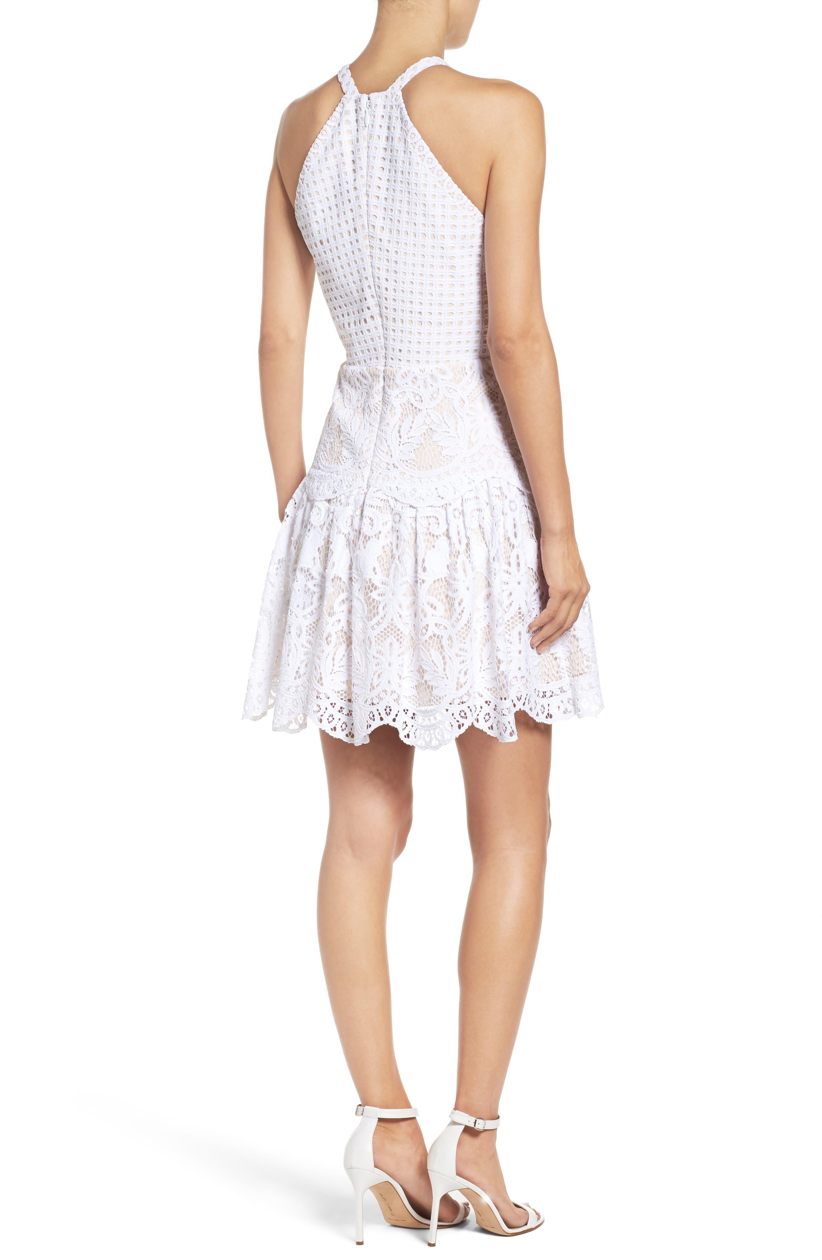 Adella Lace Dress,                             Alternate thumbnail 2, color,                             Resort White