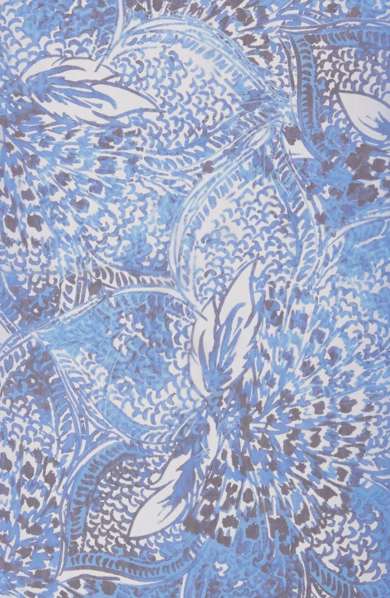 Alternate Image 2  - St. John Collection Lotus Blossom Print Silk Scarf