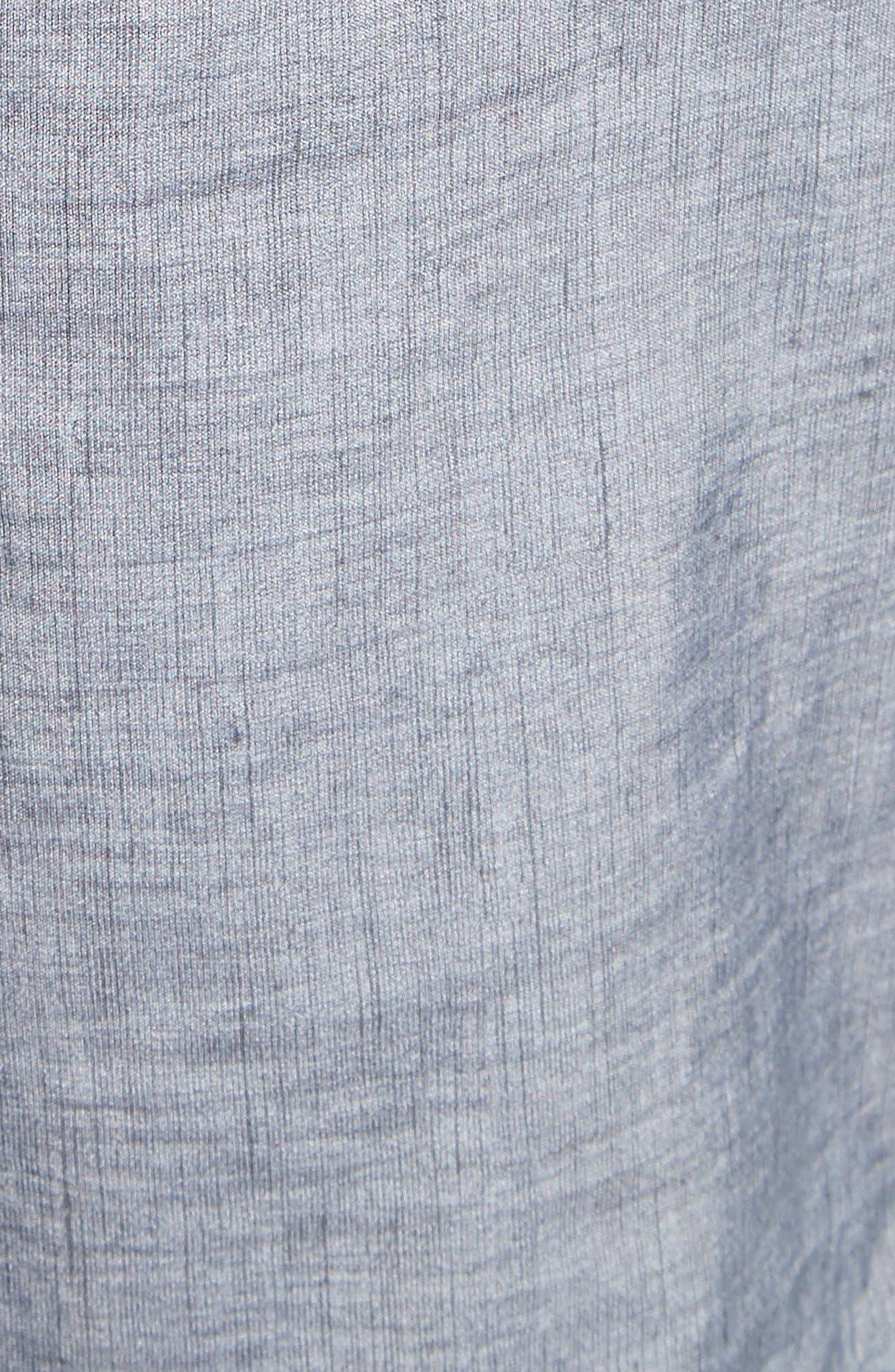 4-Bar Print Tech Board Shorts,                             Alternate thumbnail 5, color,                             Medium Grey