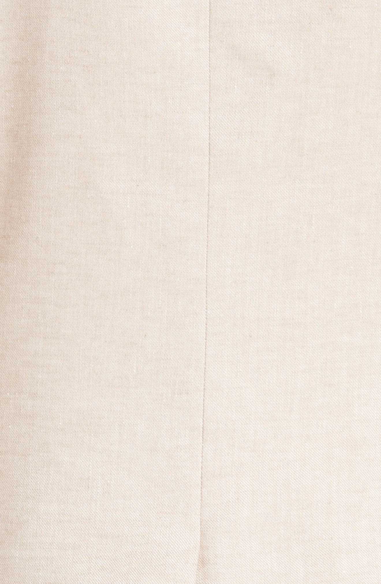 Turn-Up Collar Jacket,                             Alternate thumbnail 5, color,                             Beige