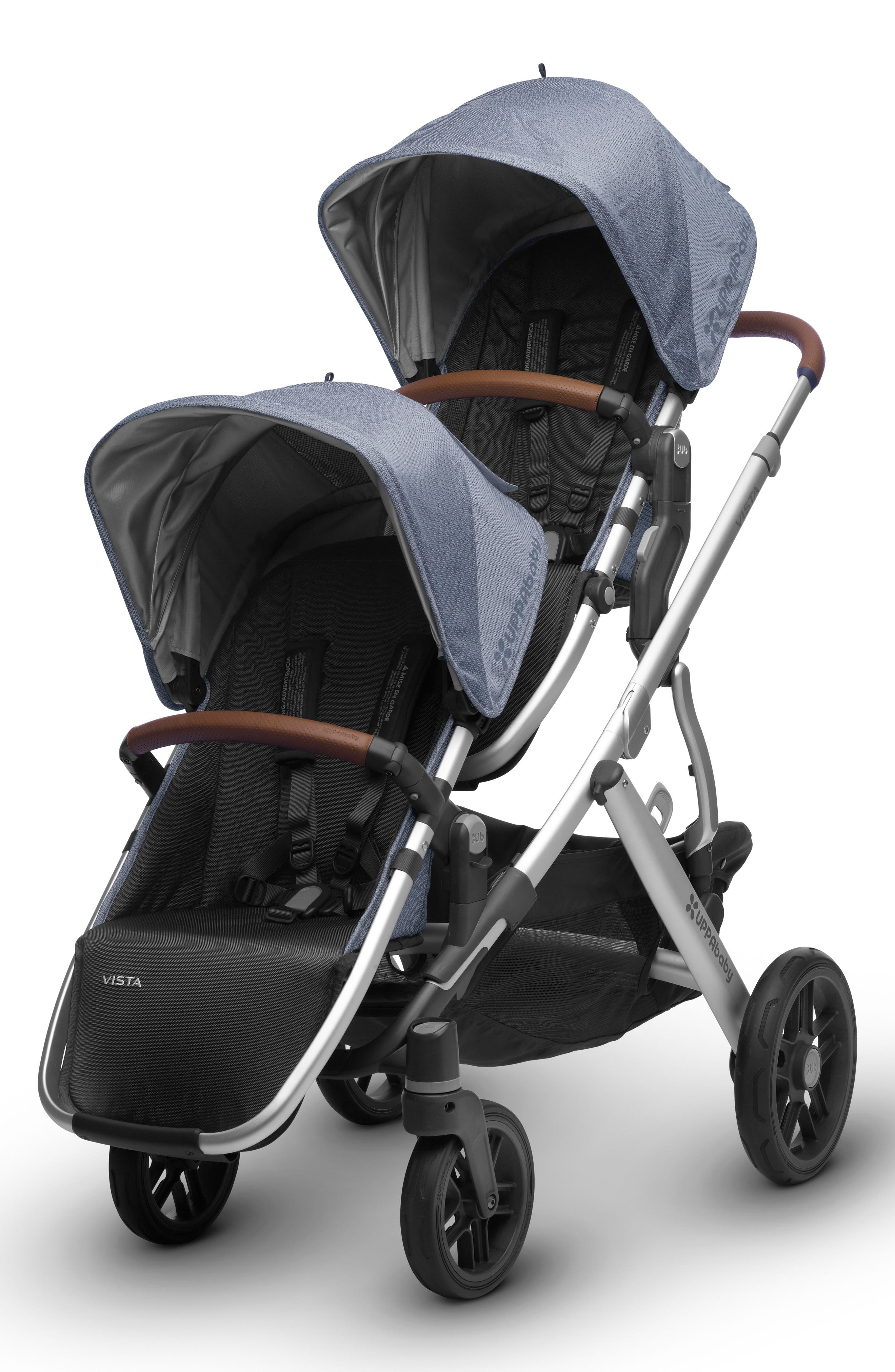 2017 Limited Edition Henry Rumble Seat for VISTA Stroller,                             Alternate thumbnail 2, color,                             Blue Marl