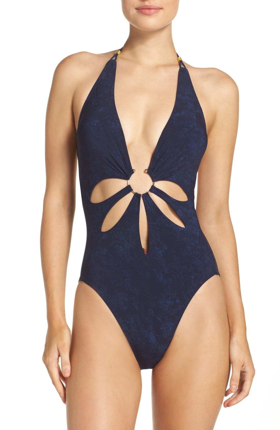 Main Image - Robin Piccone Plunge One-Piece Swimsuit