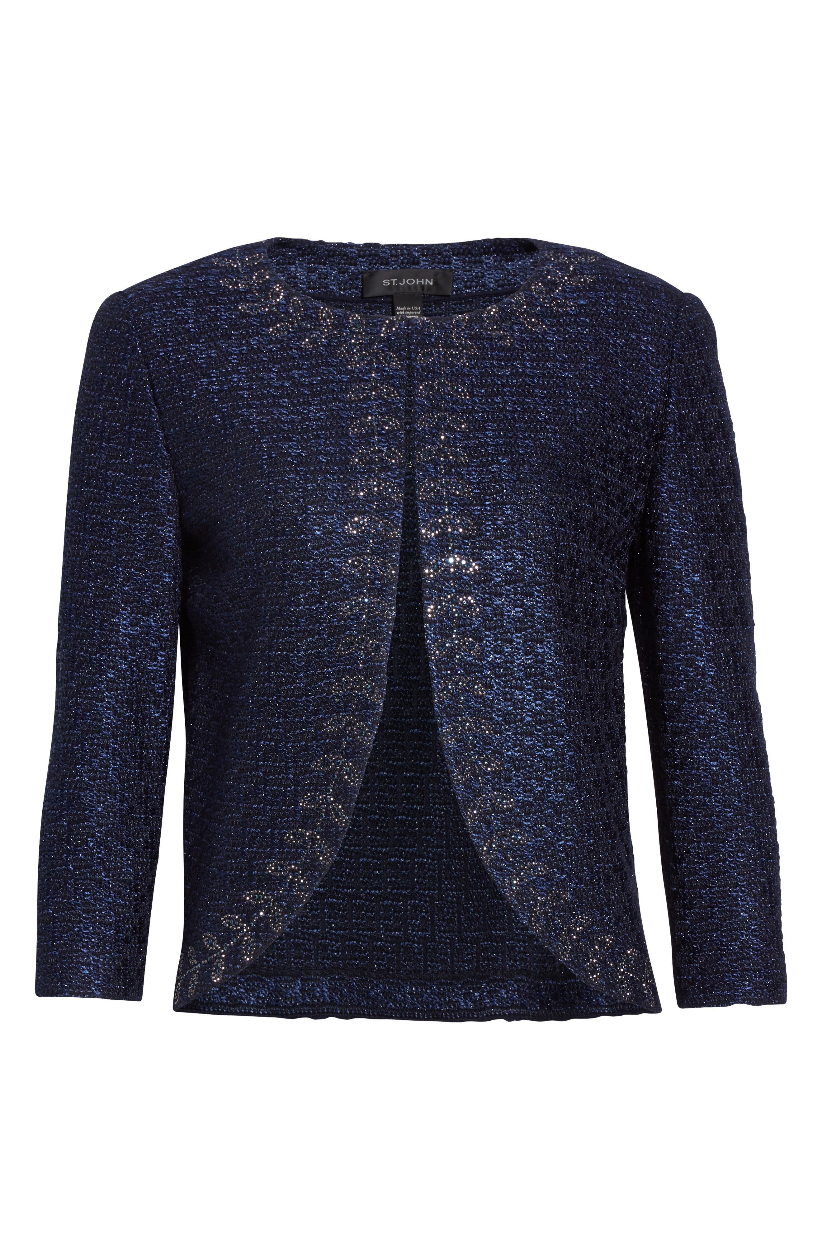 Alternate Image 6  - St. John Collection Jiya Sparkle Knit Jacket