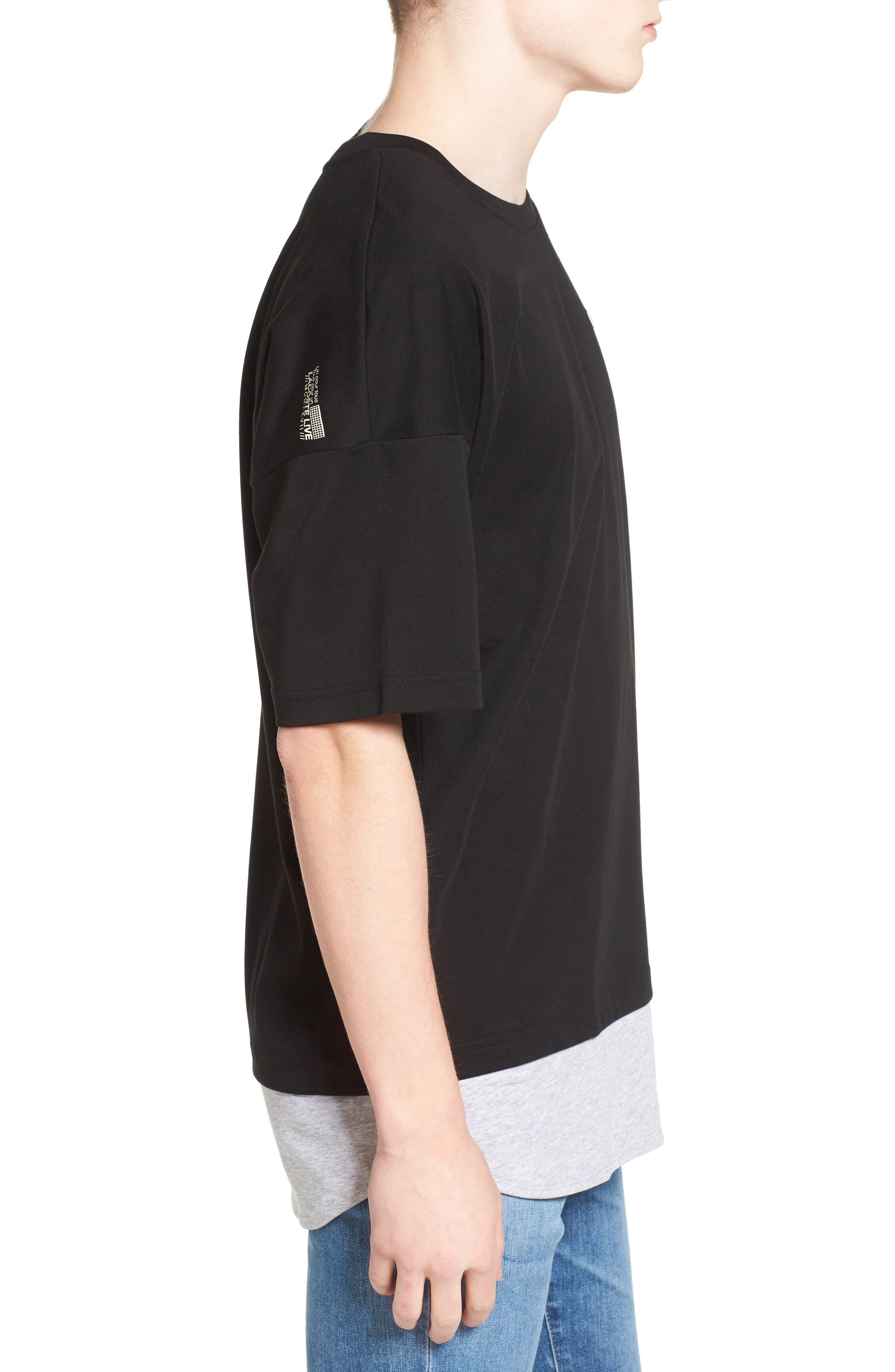 Alternate Image 3  - Lacoste L!VE Mock Layer T-Shirt