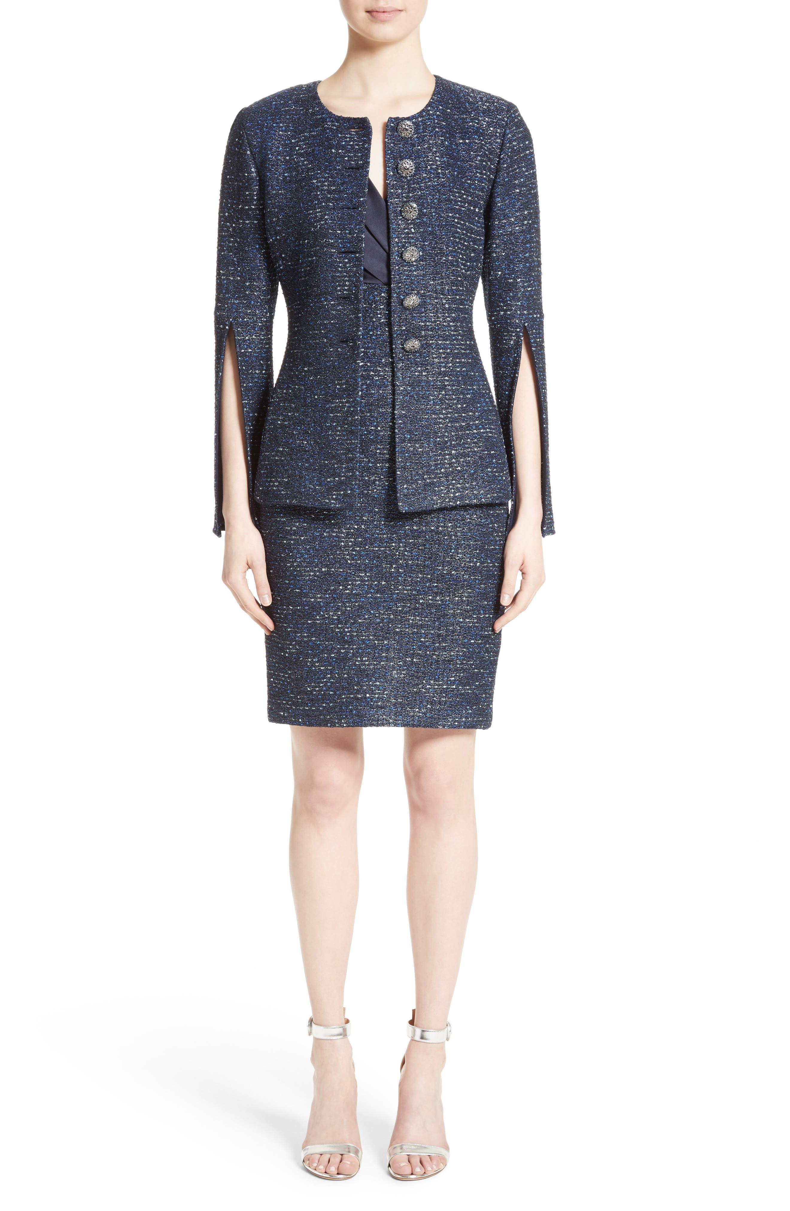 Alternate Image 7  - St. John Collection Alisha Sparkle Tweed Jacket