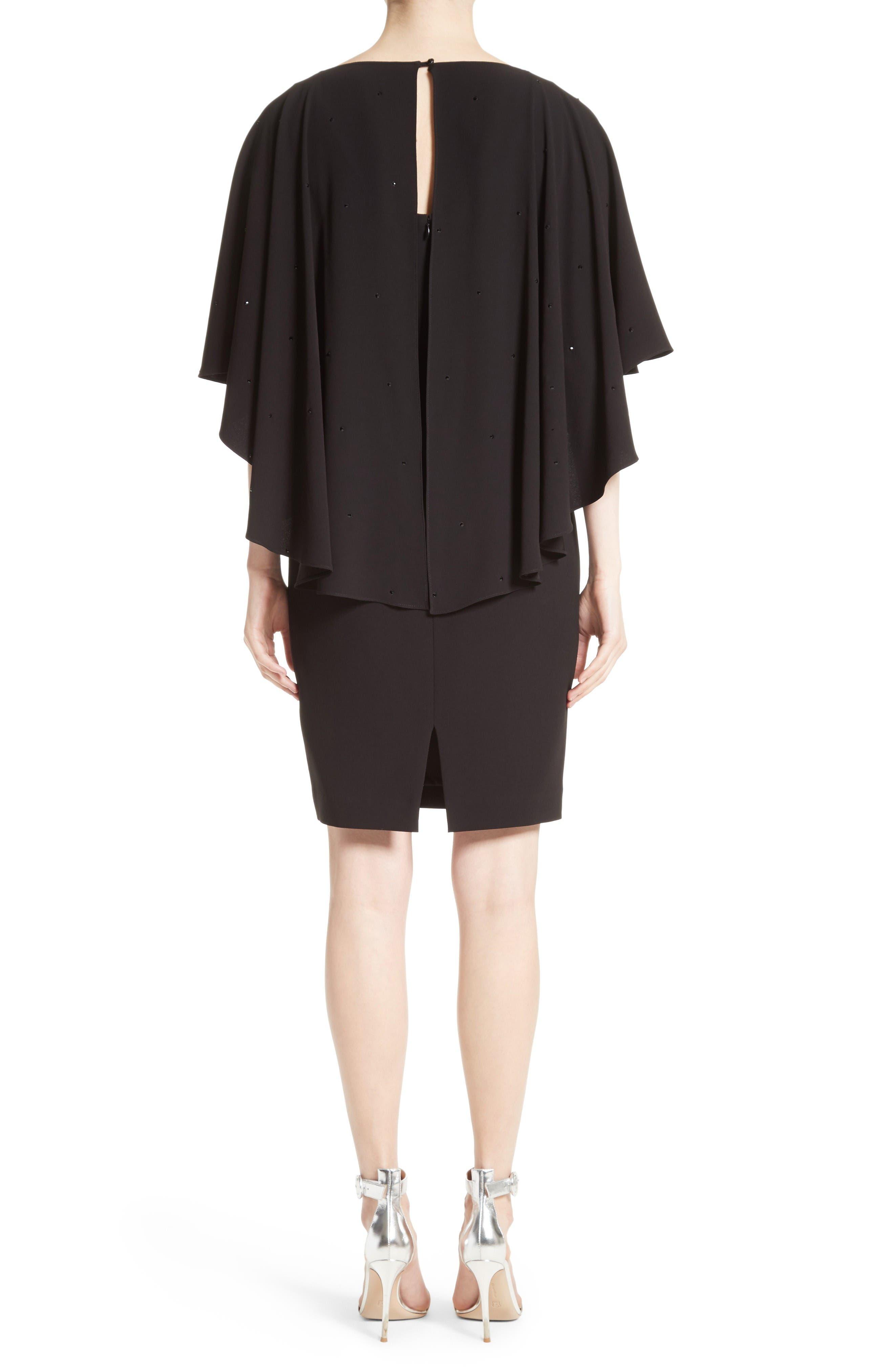 Alternate Image 2  - St. John Collection Satin Back Crepe Cape Dress