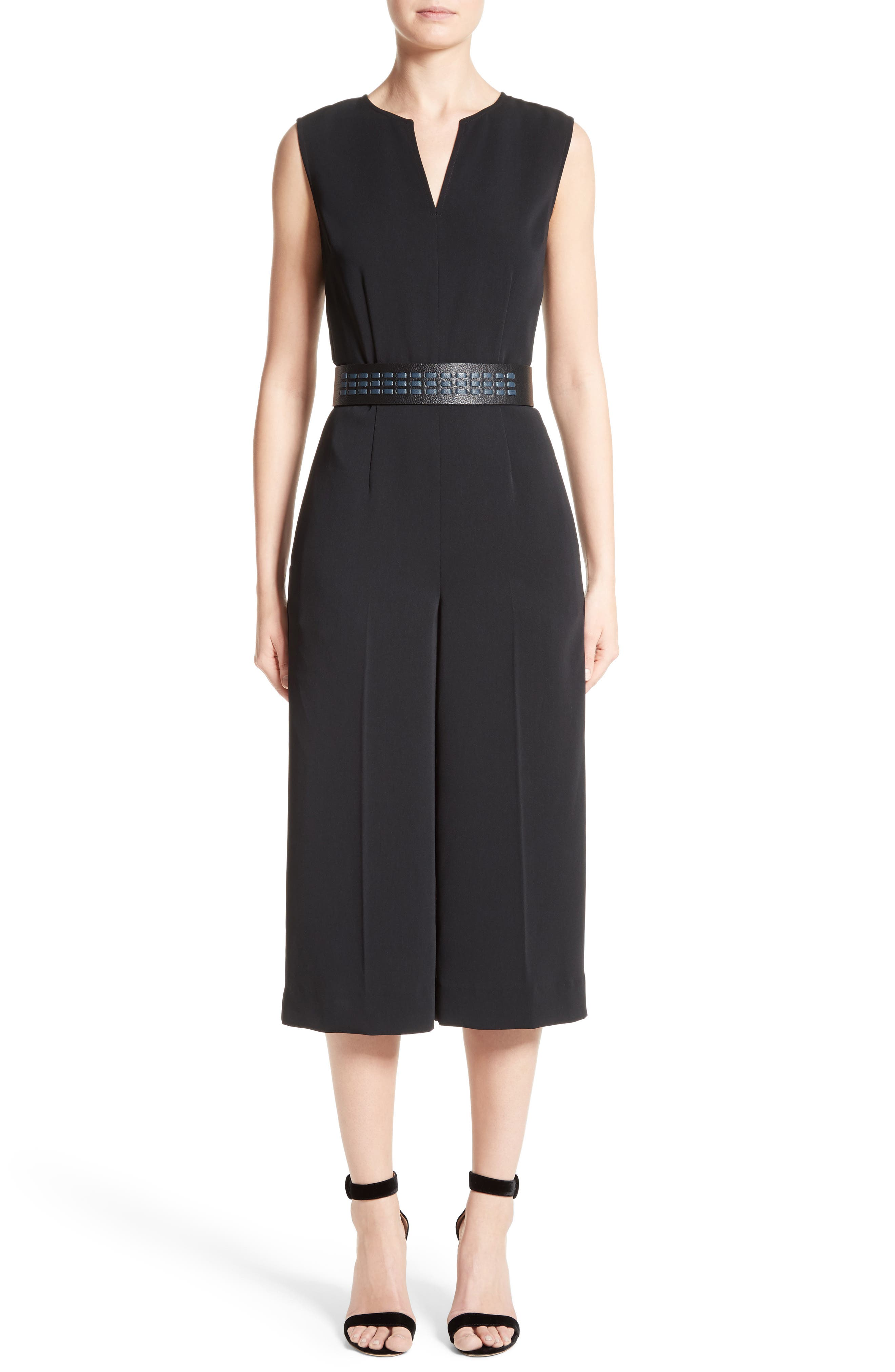 Alternate Image 8  - St. John Collection Classic Stretch Cady Jumpsuit