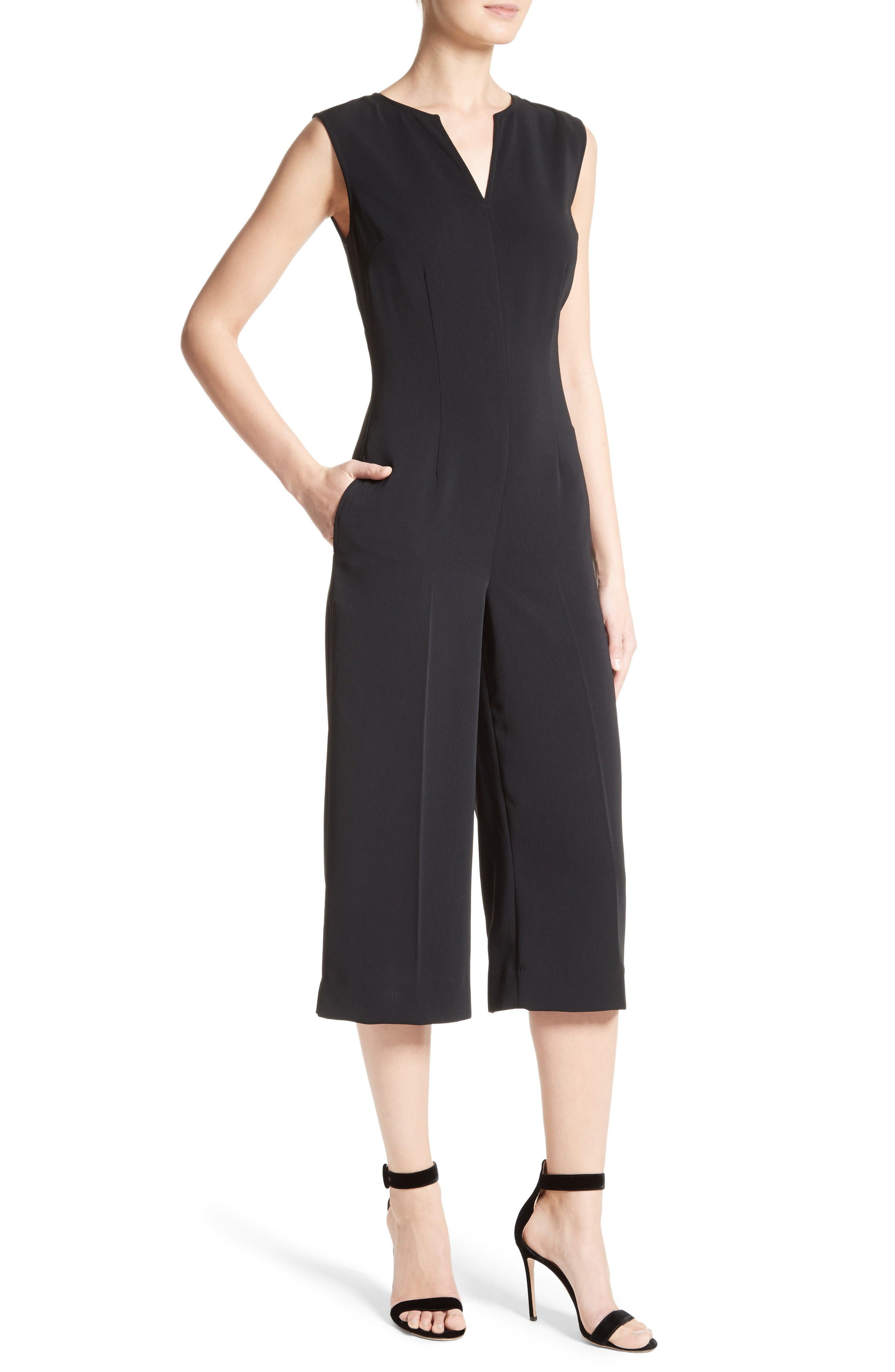Alternate Image 4  - St. John Collection Classic Stretch Cady Jumpsuit
