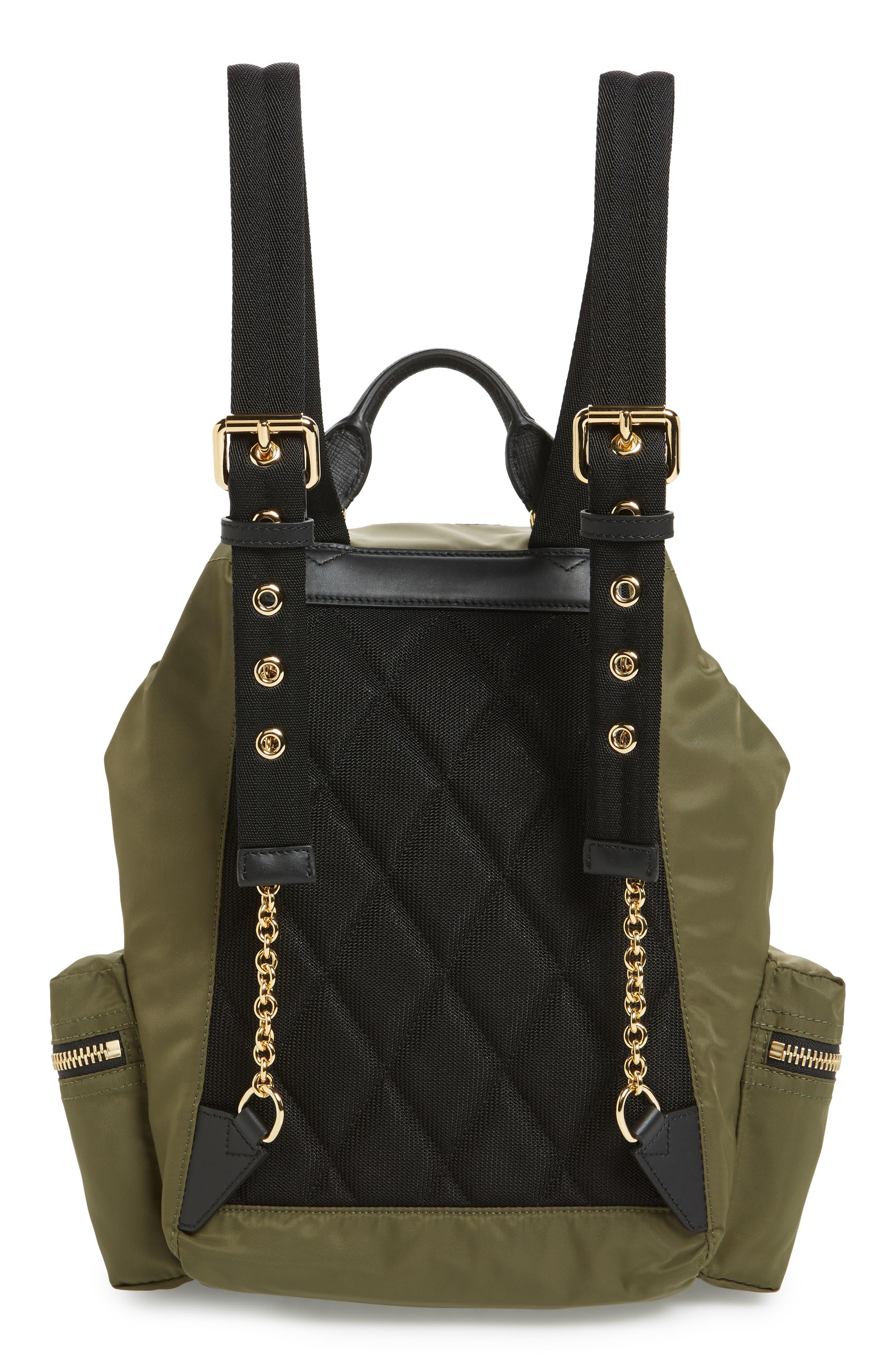 Medium Patches Rucksack Nylon Backpack,                             Alternate thumbnail 3, color,                             Canvas Green