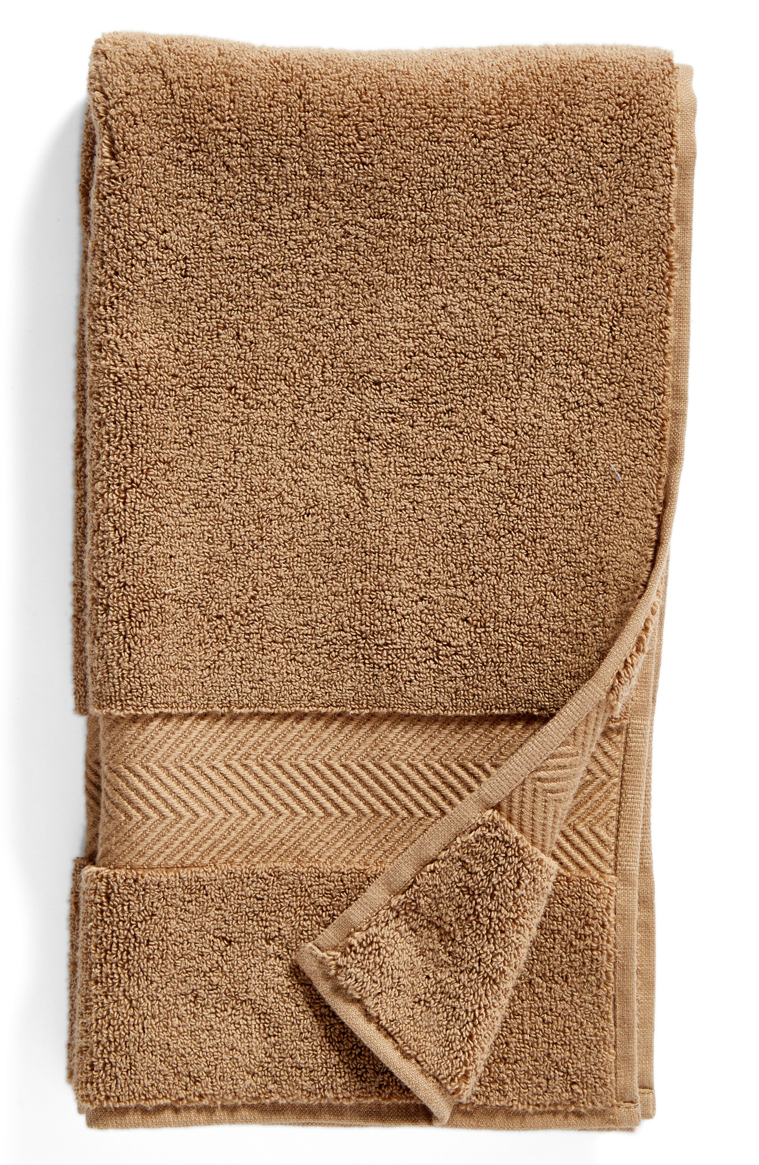 Hydrocotton Hand Towel,                         Main,                         color, Brown Otter