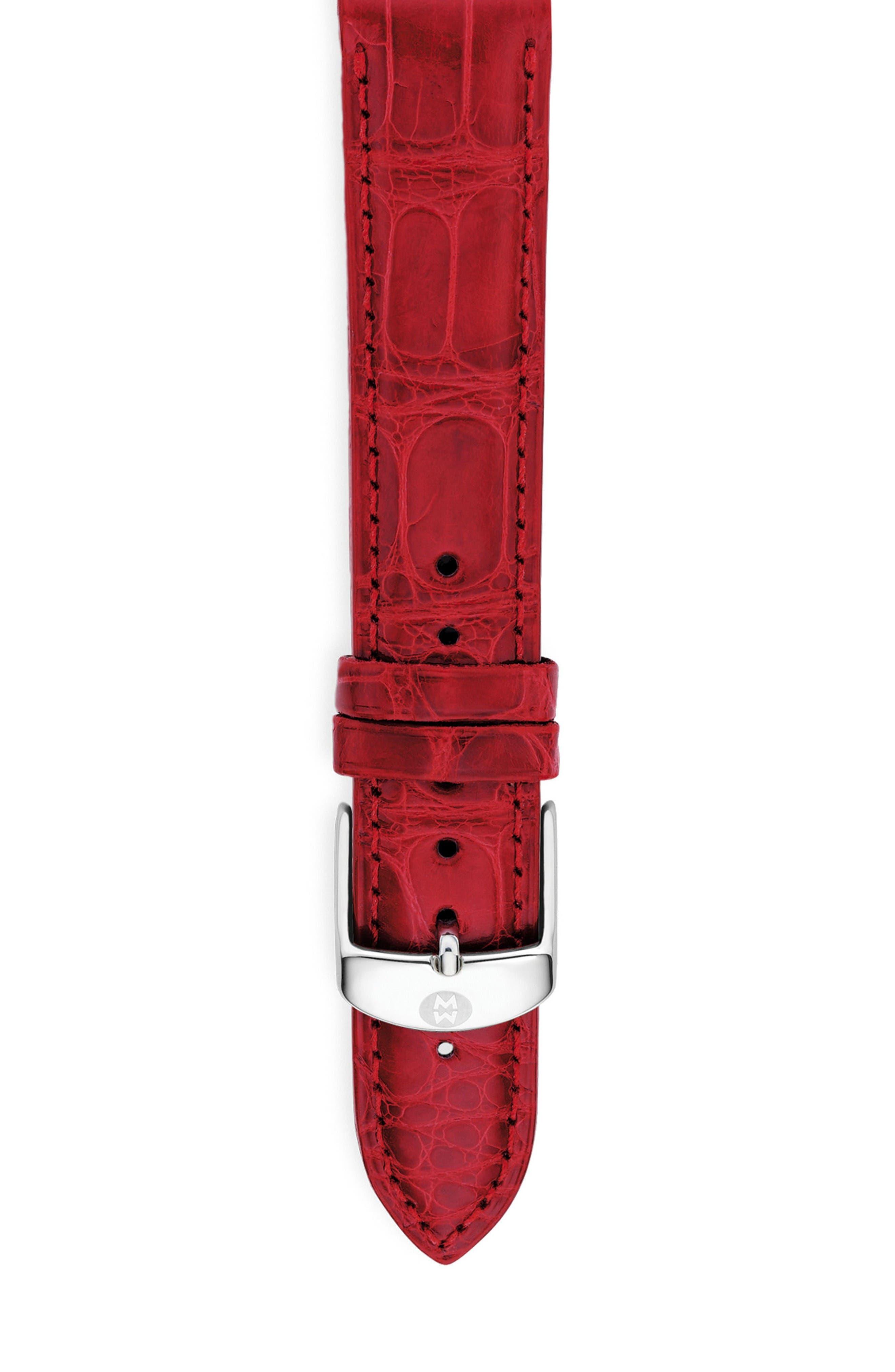 MICHELE 20mm Alligator Watch Strap