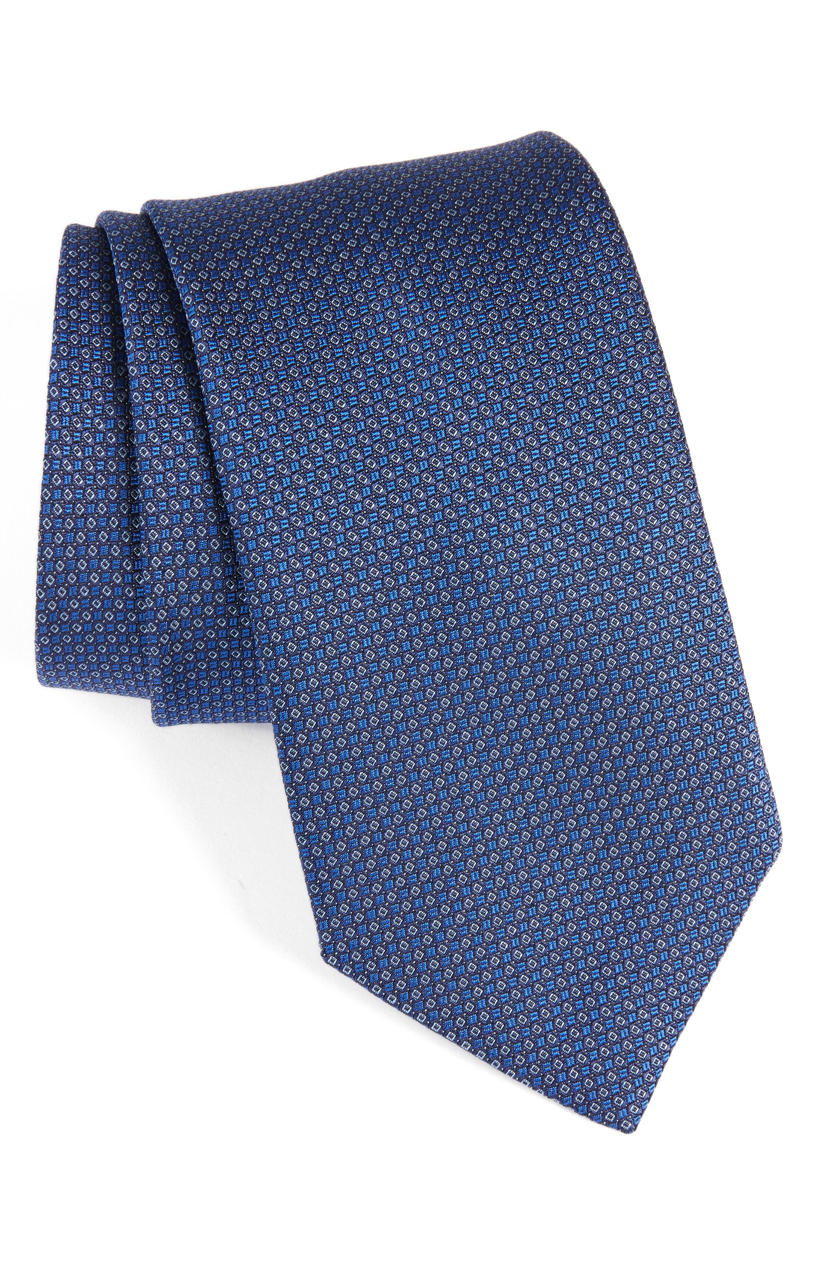 Alternate Image 1 Selected - David Donahue Solid Silk Tie