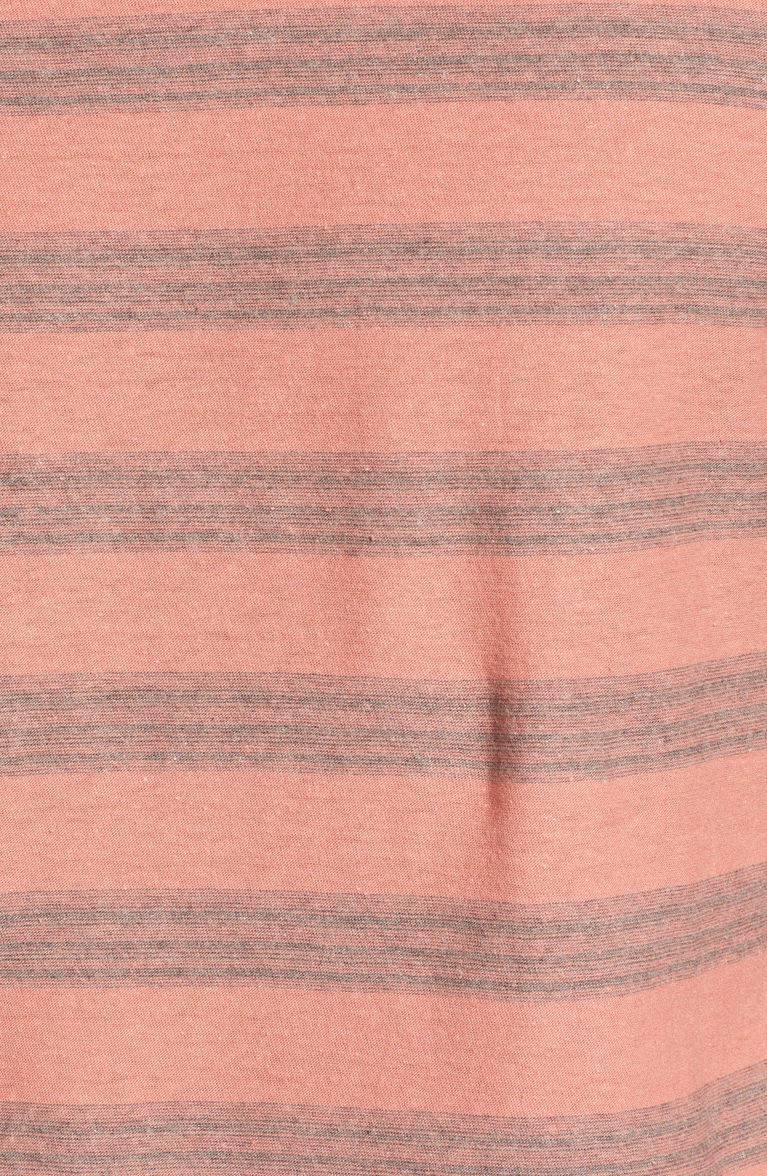 Alternate Image 5  - Jeremiah Ventura Stripe Linen & Cotton T-Shirt