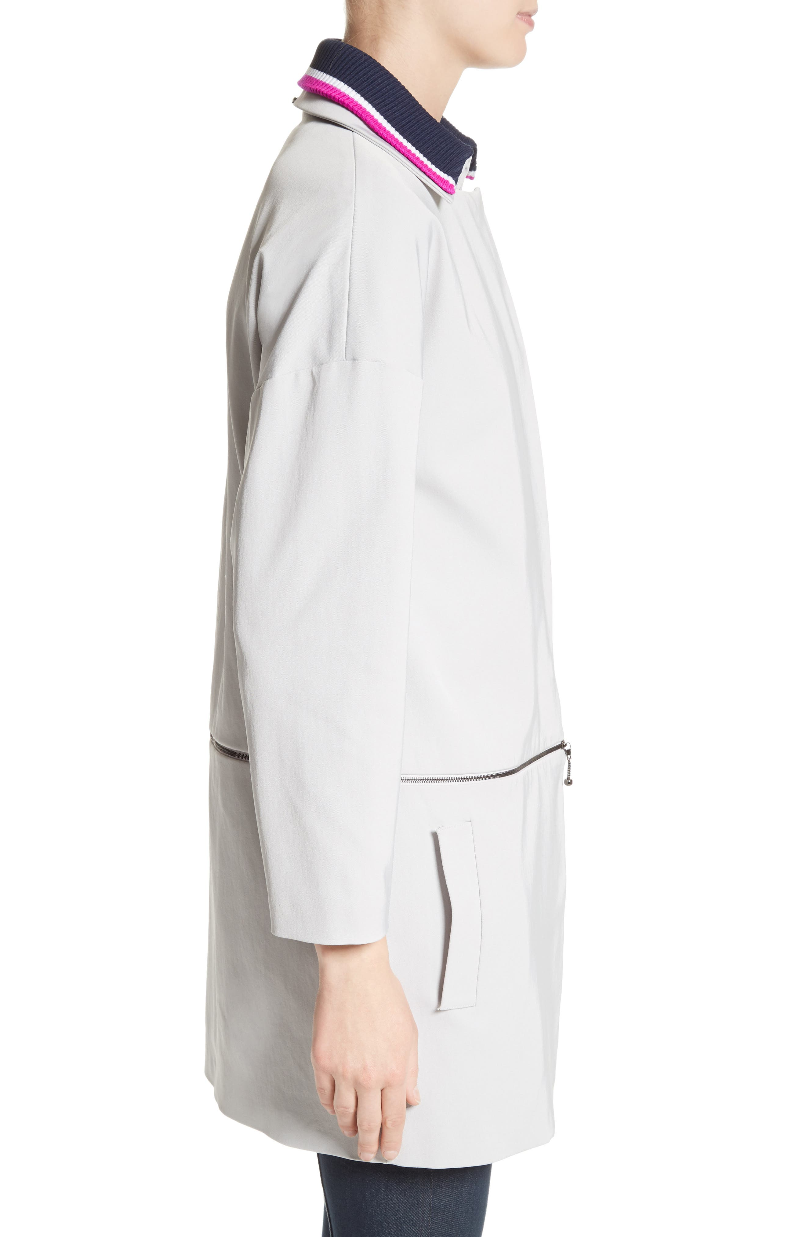 Alternate Image 3  - St. John Collection Stretch Twill Convertible Coat