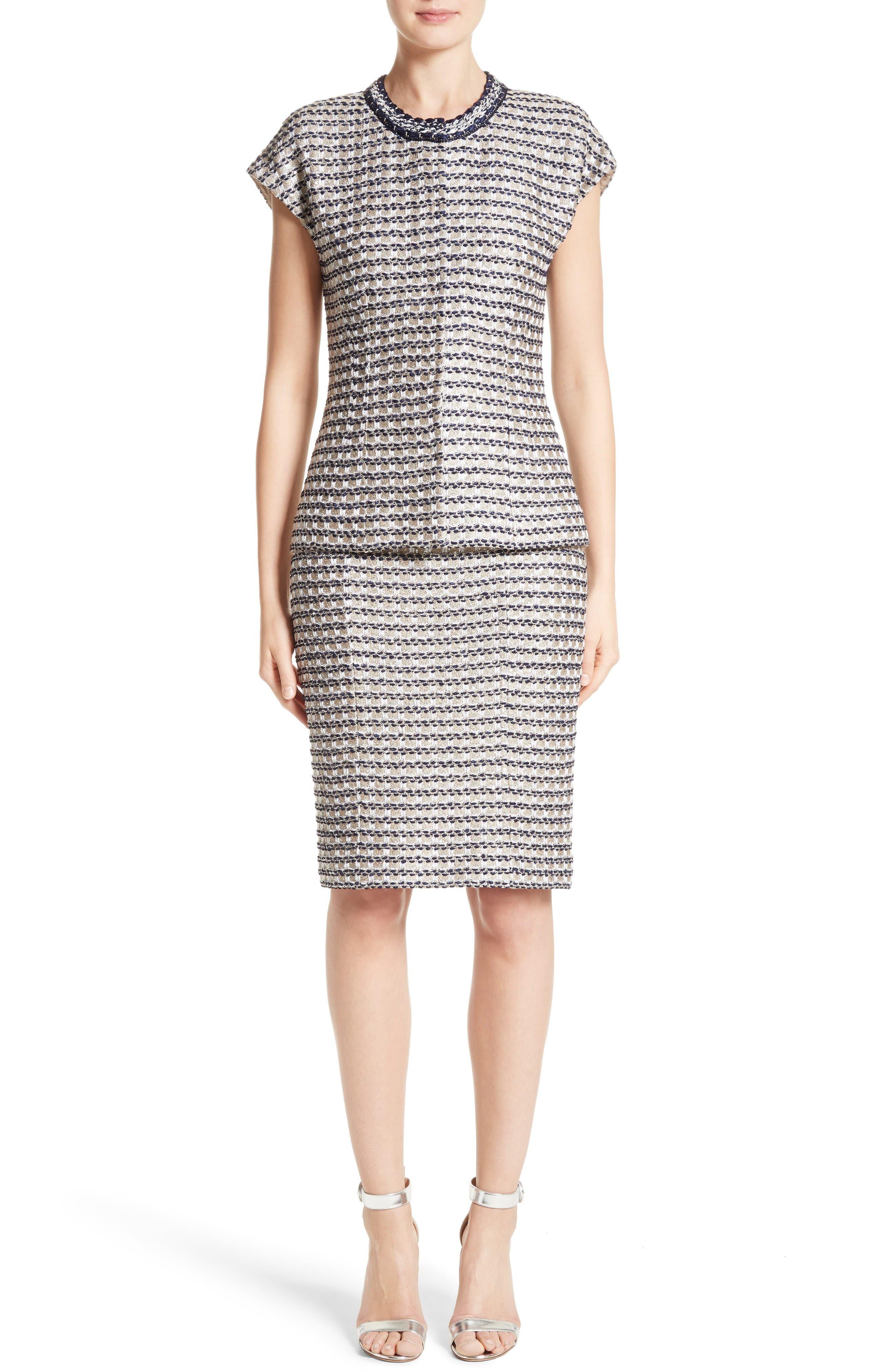 Alternate Image 7  - St. John Collection Vany Tweed Knit Pencil Skirt