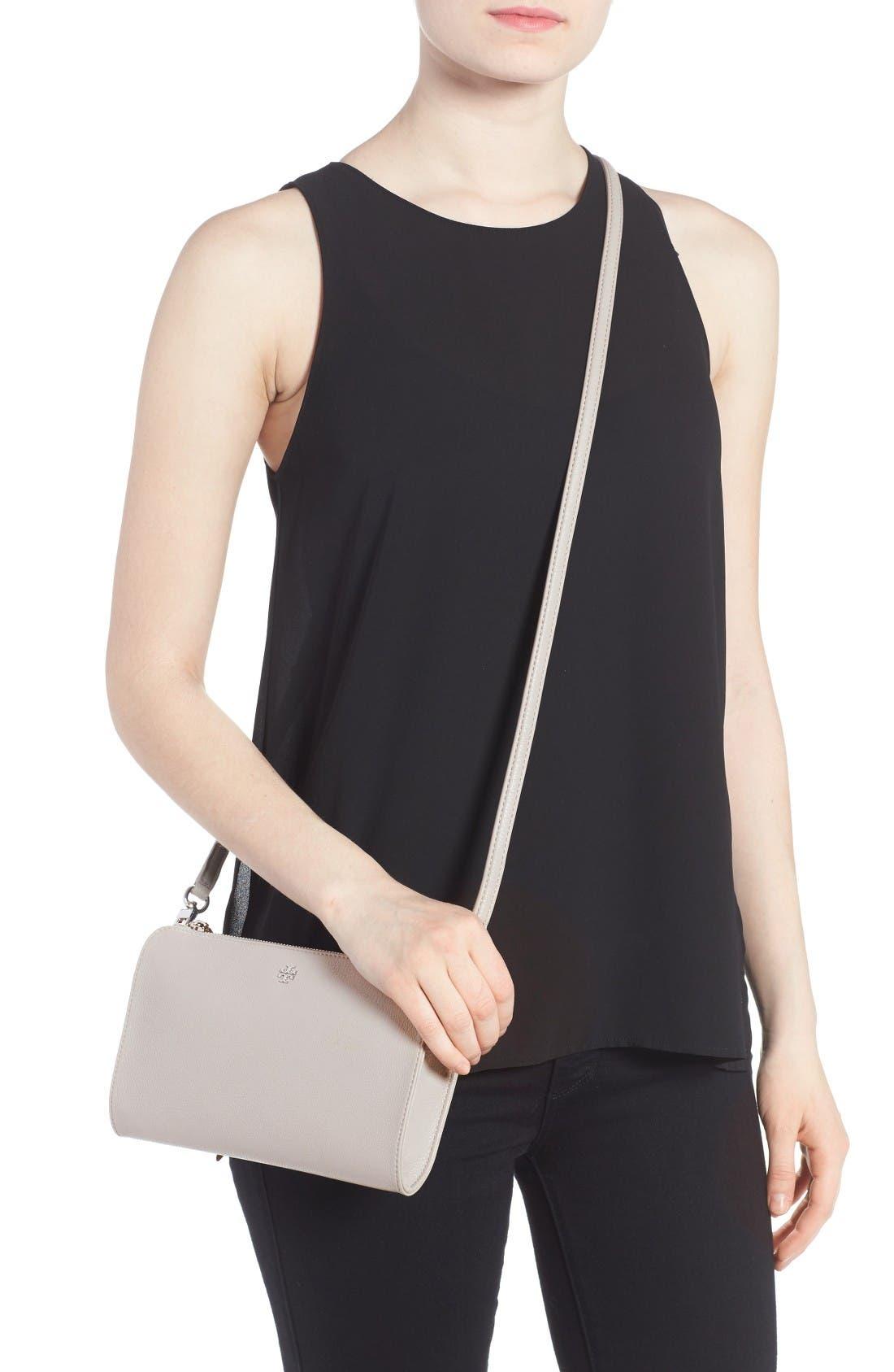 Alternate Image 2  - Tory Burch Robinson Leather Wallet/Crossbody Bag