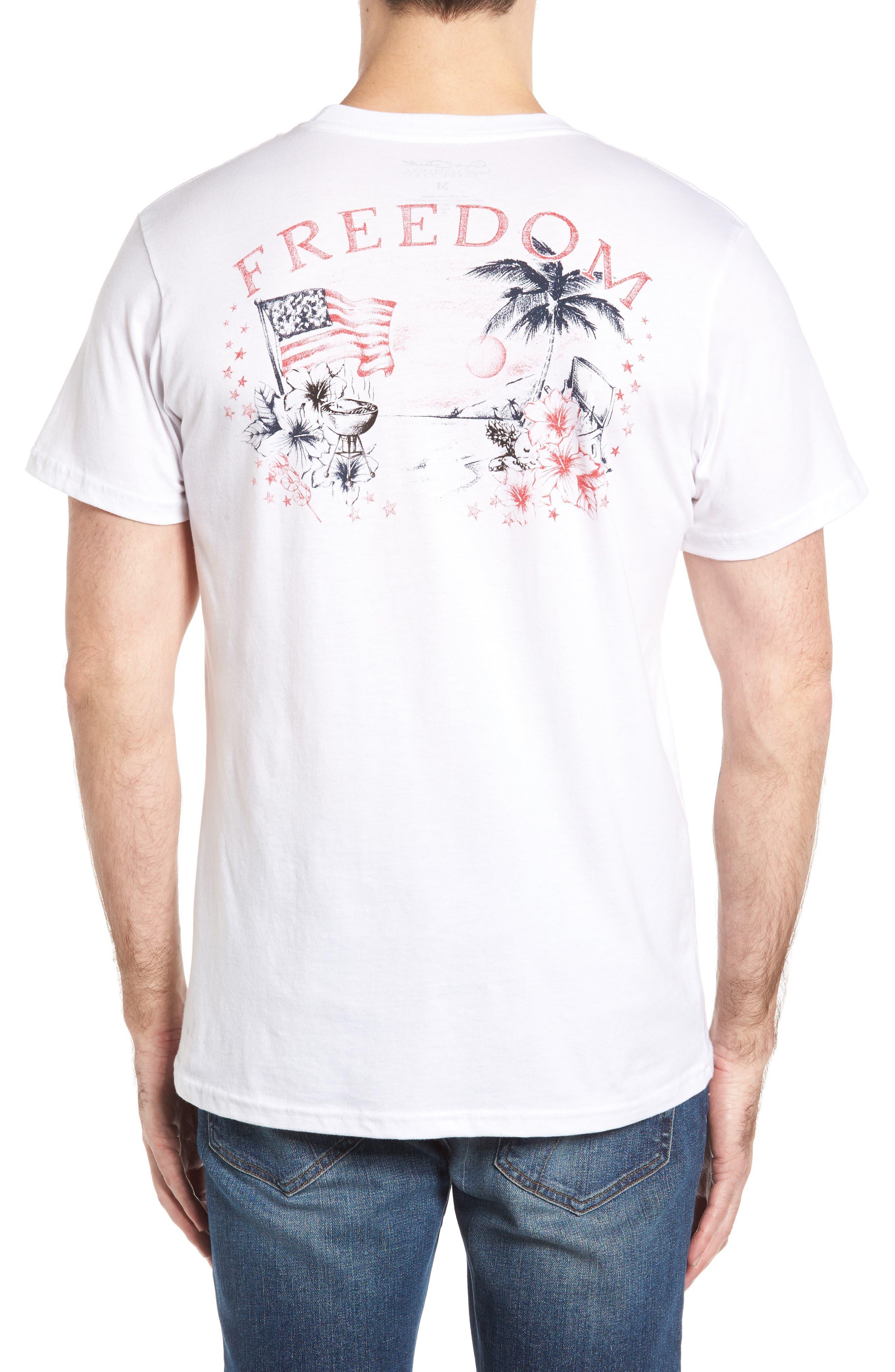 Freedom T-Shirt,                             Alternate thumbnail 2, color,                             White