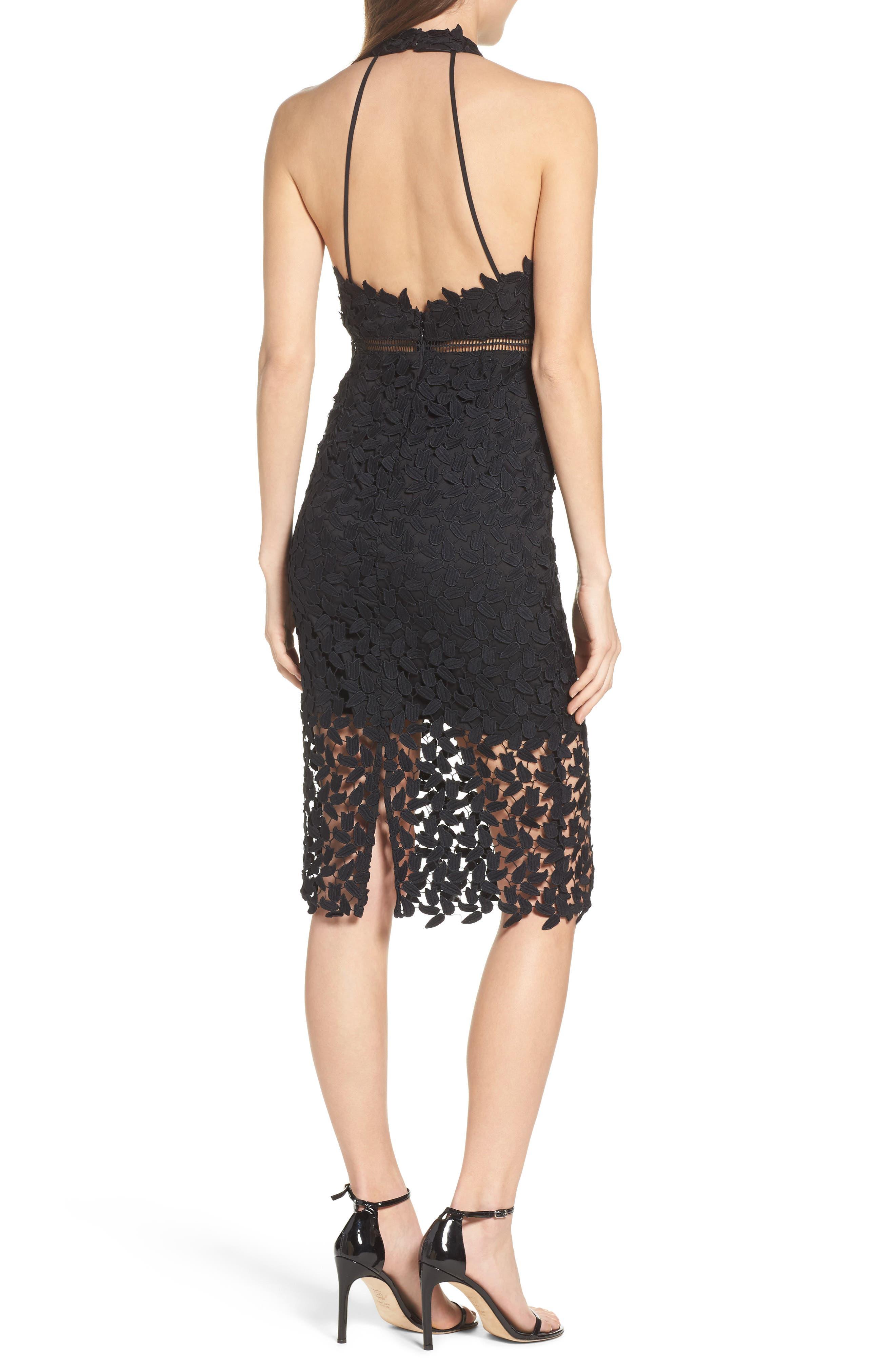 Alternate Image 2  - Bardot Gemma Halter Lace Sheath Dress