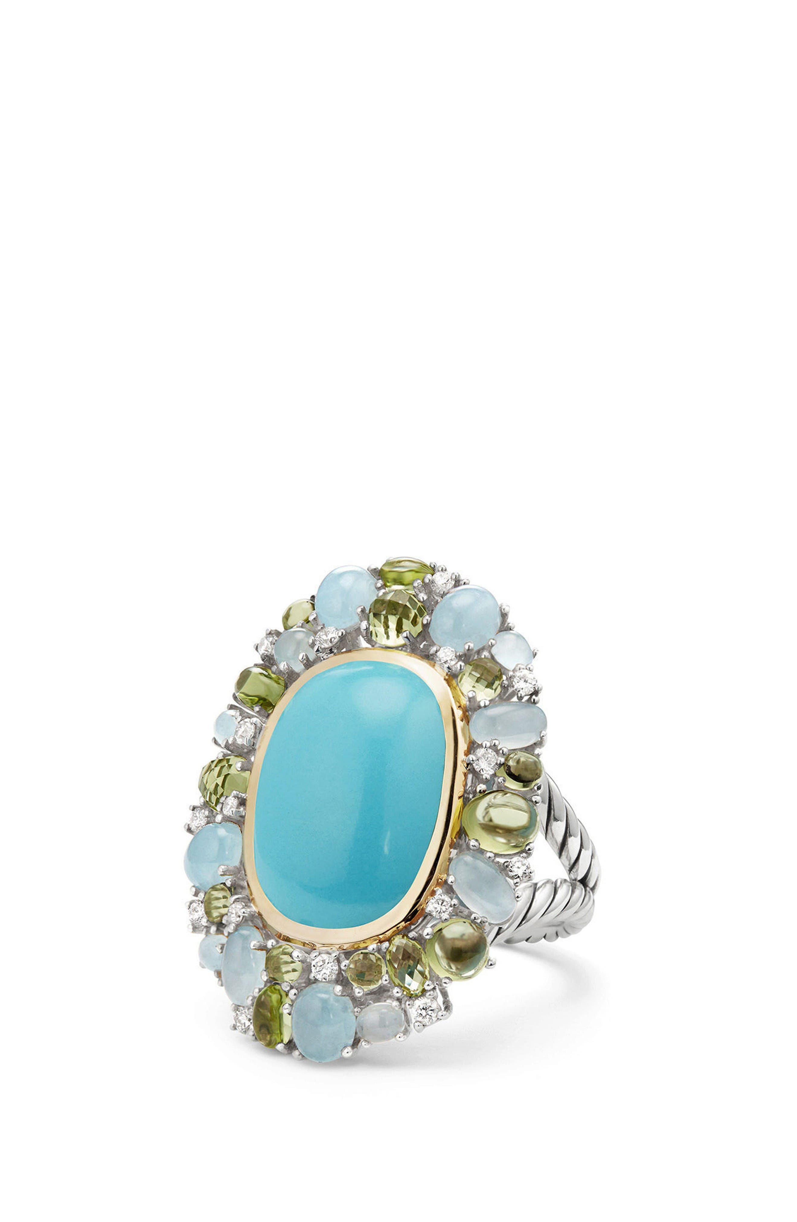Mustique Statement Ring with Diamonds,                         Main,                         color, Silver/ Multi