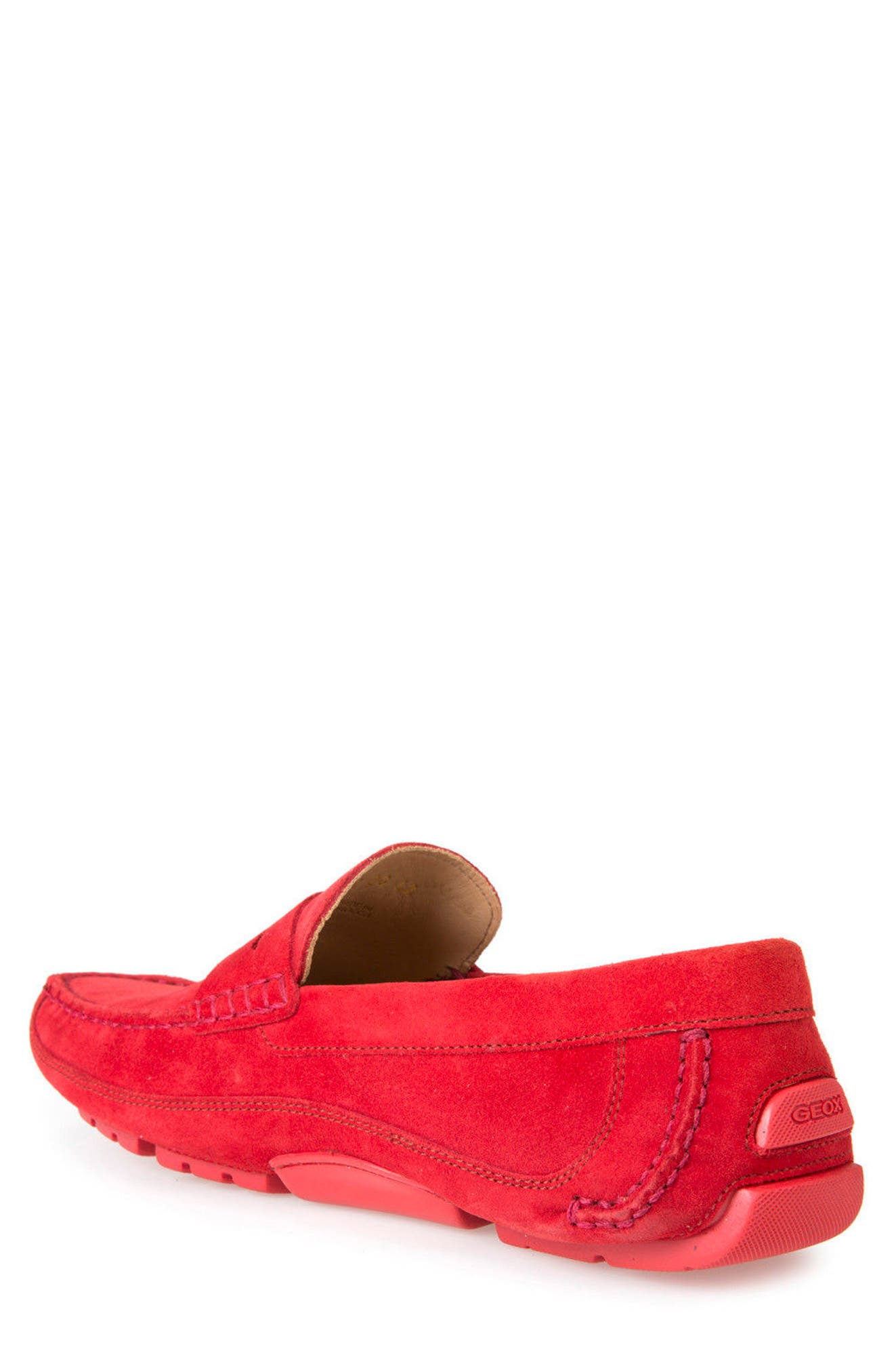 Melbourne 1 Driving Shoe,                             Alternate thumbnail 2, color,                             Red Suede