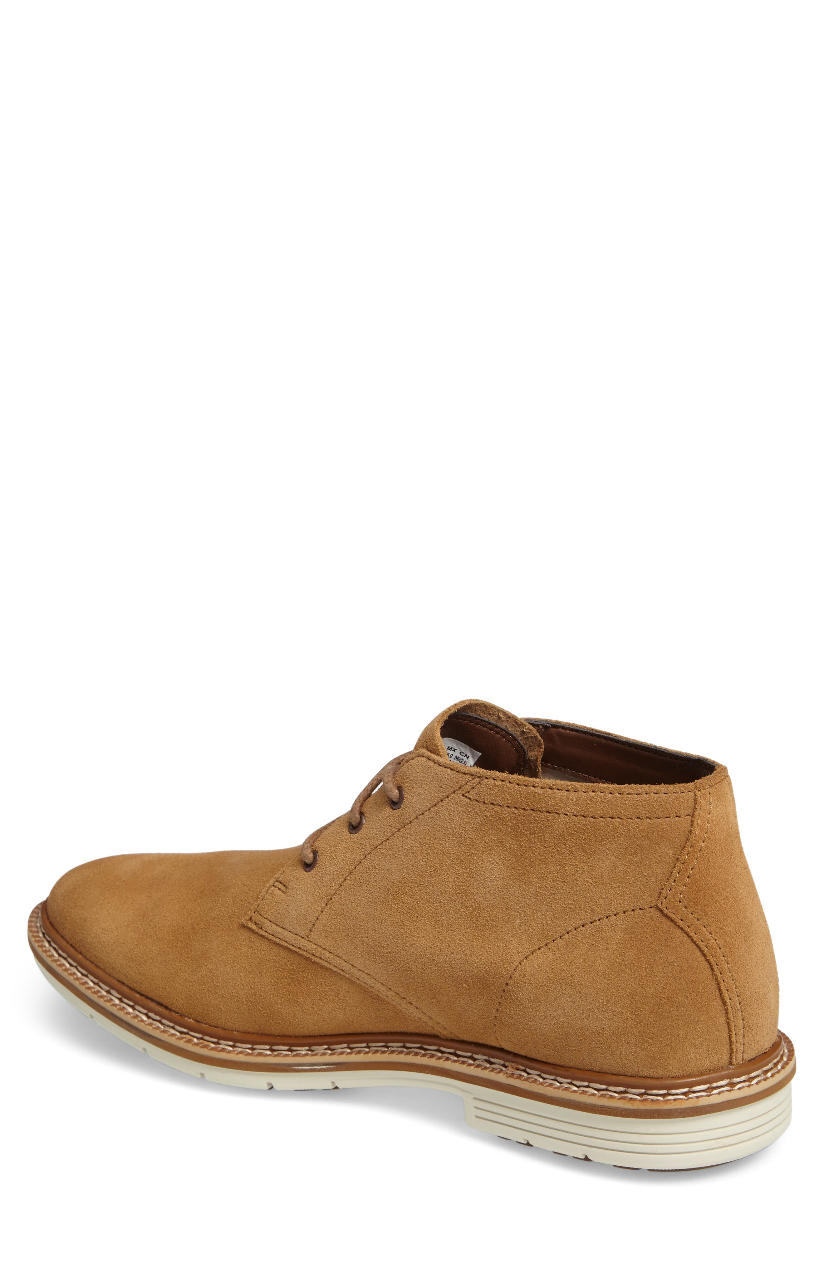 Naples Trail Chukka Boot,                             Alternate thumbnail 3, color,                             Rubber Suede