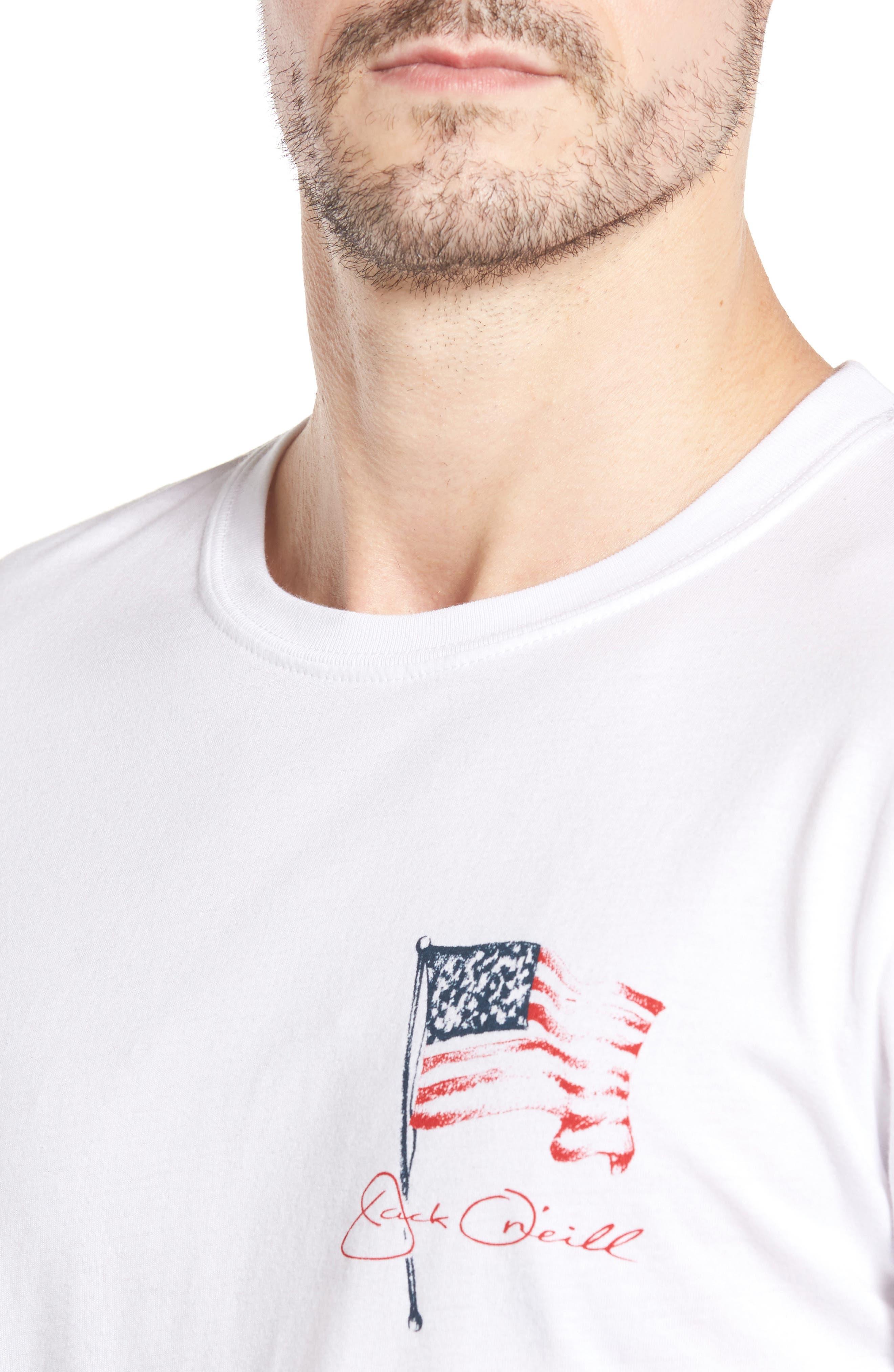Freedom T-Shirt,                             Alternate thumbnail 4, color,                             White