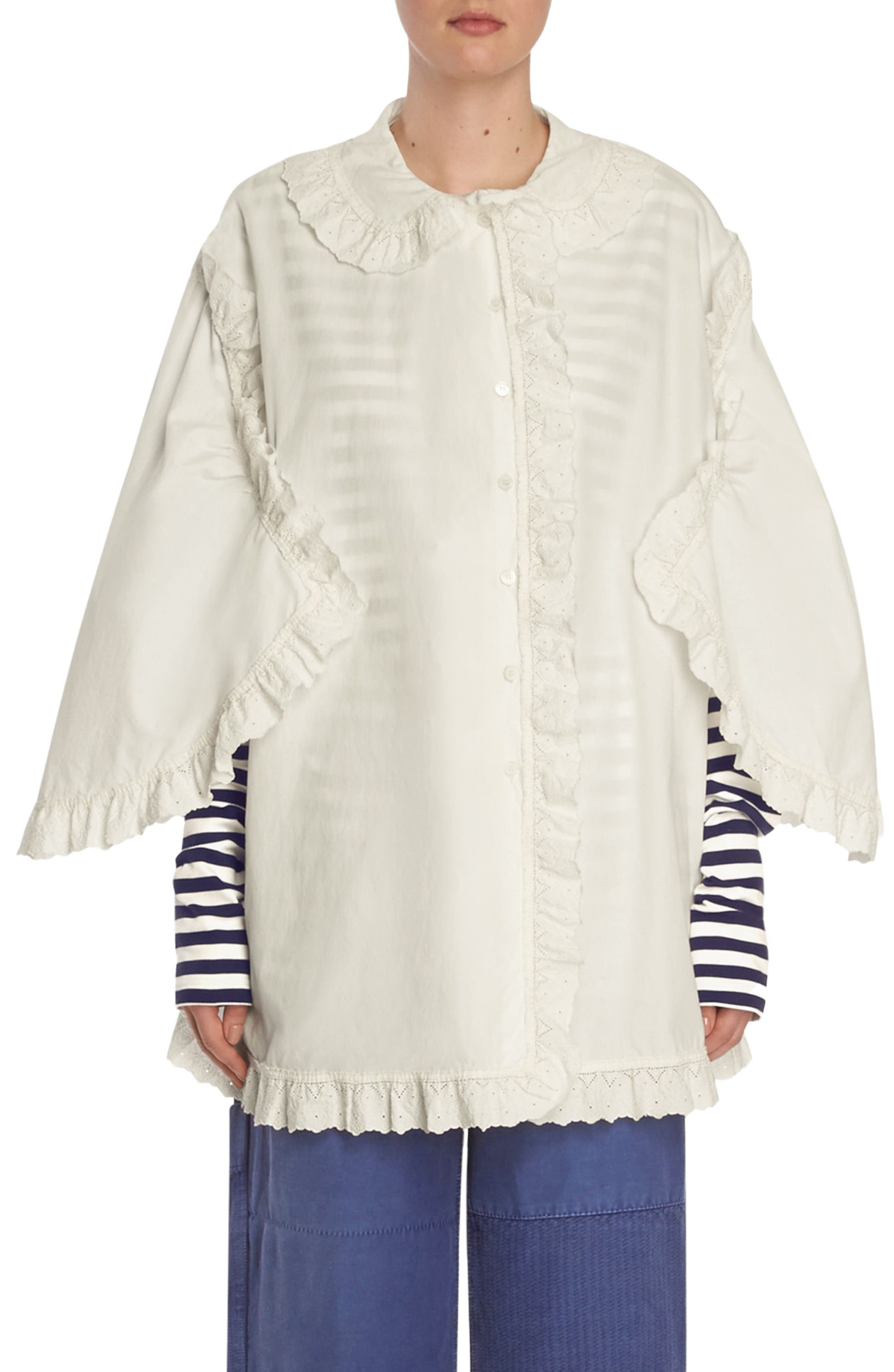 Alternate Image 1 Selected - Burberry Ruffle Blouse