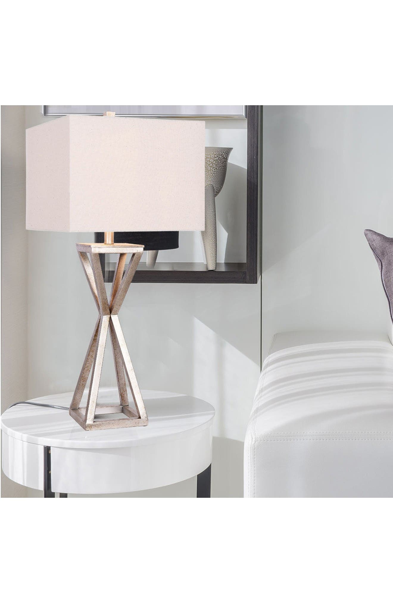 JAlexander Carrie Open Caged Metal Table Lamp,                             Alternate thumbnail 2, color,                             Silver