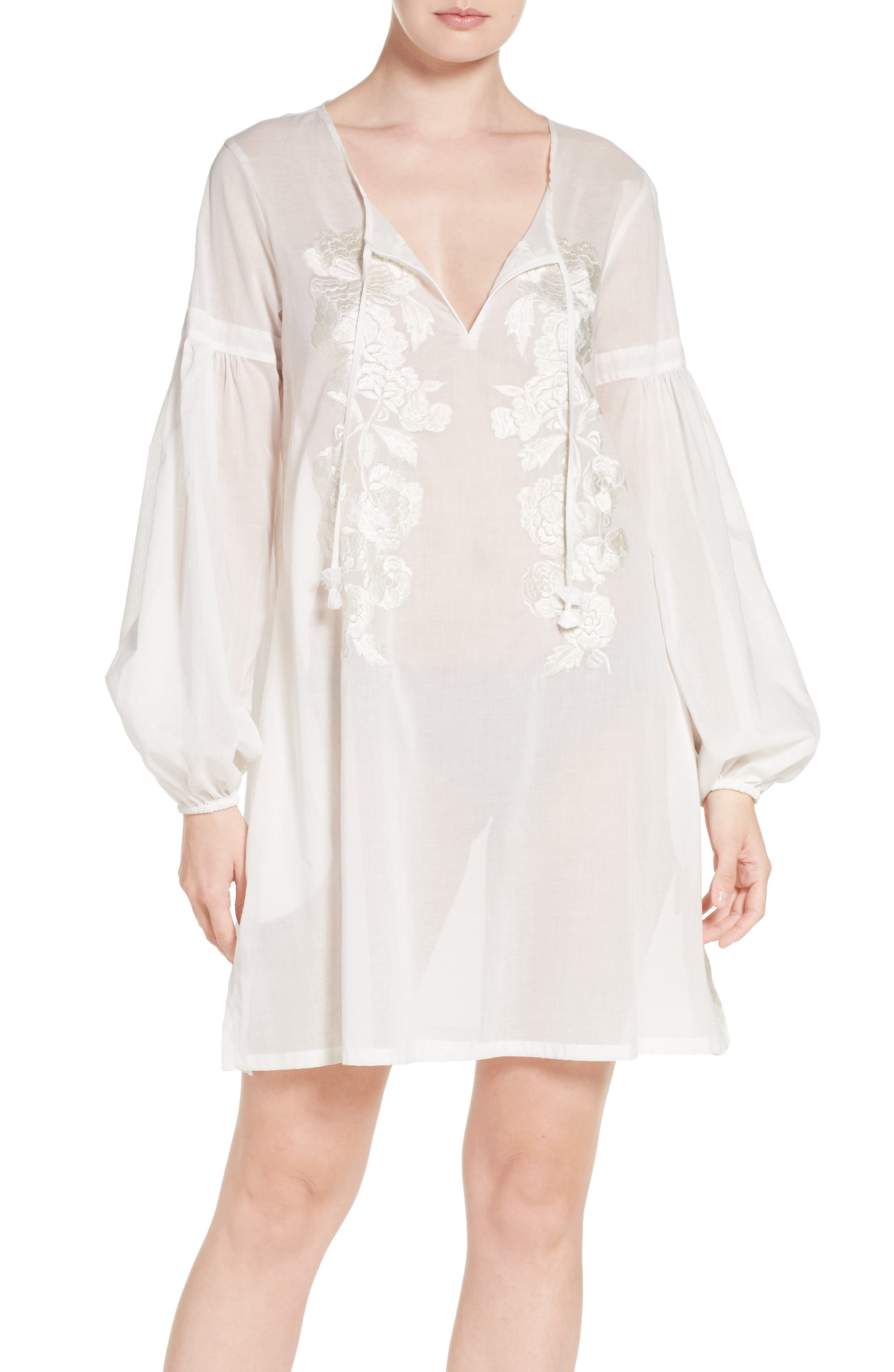 Alternate Image 1 Selected - Natori Cebu Peasant Sleep Shirt