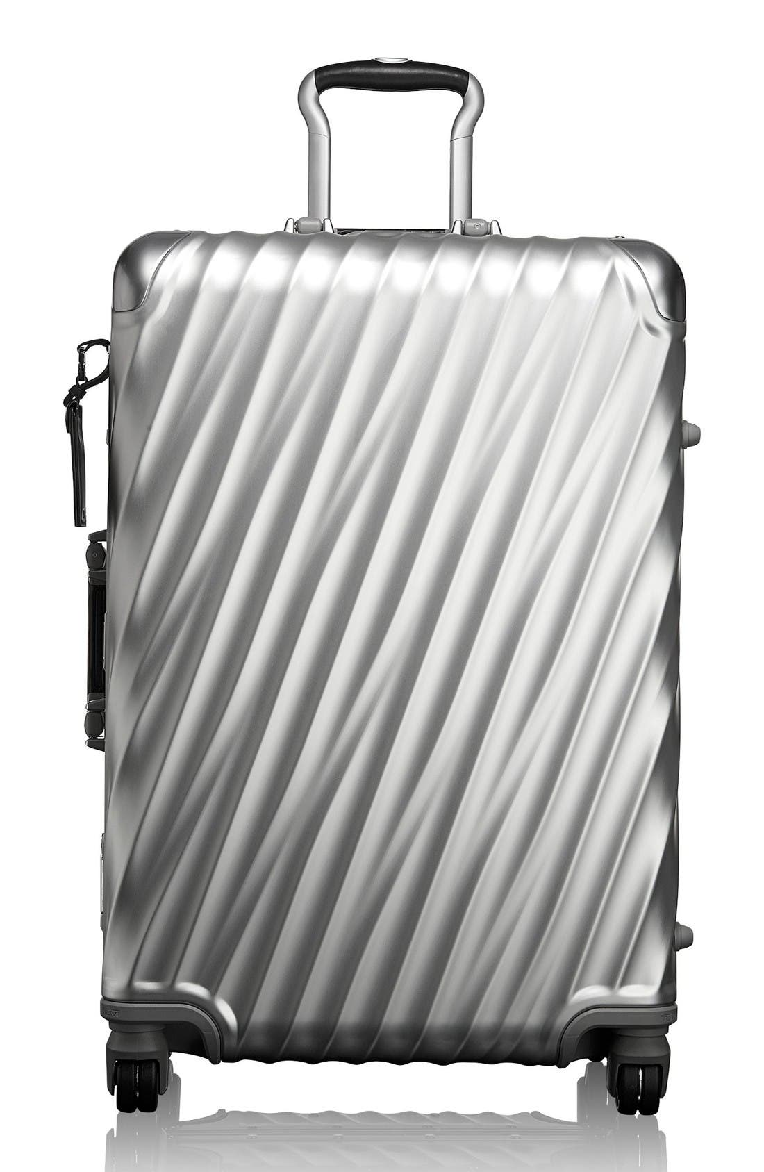 19-Degree Collection Wheeled Aluminum Short Trip Packing Case,                         Main,                         color, Silver